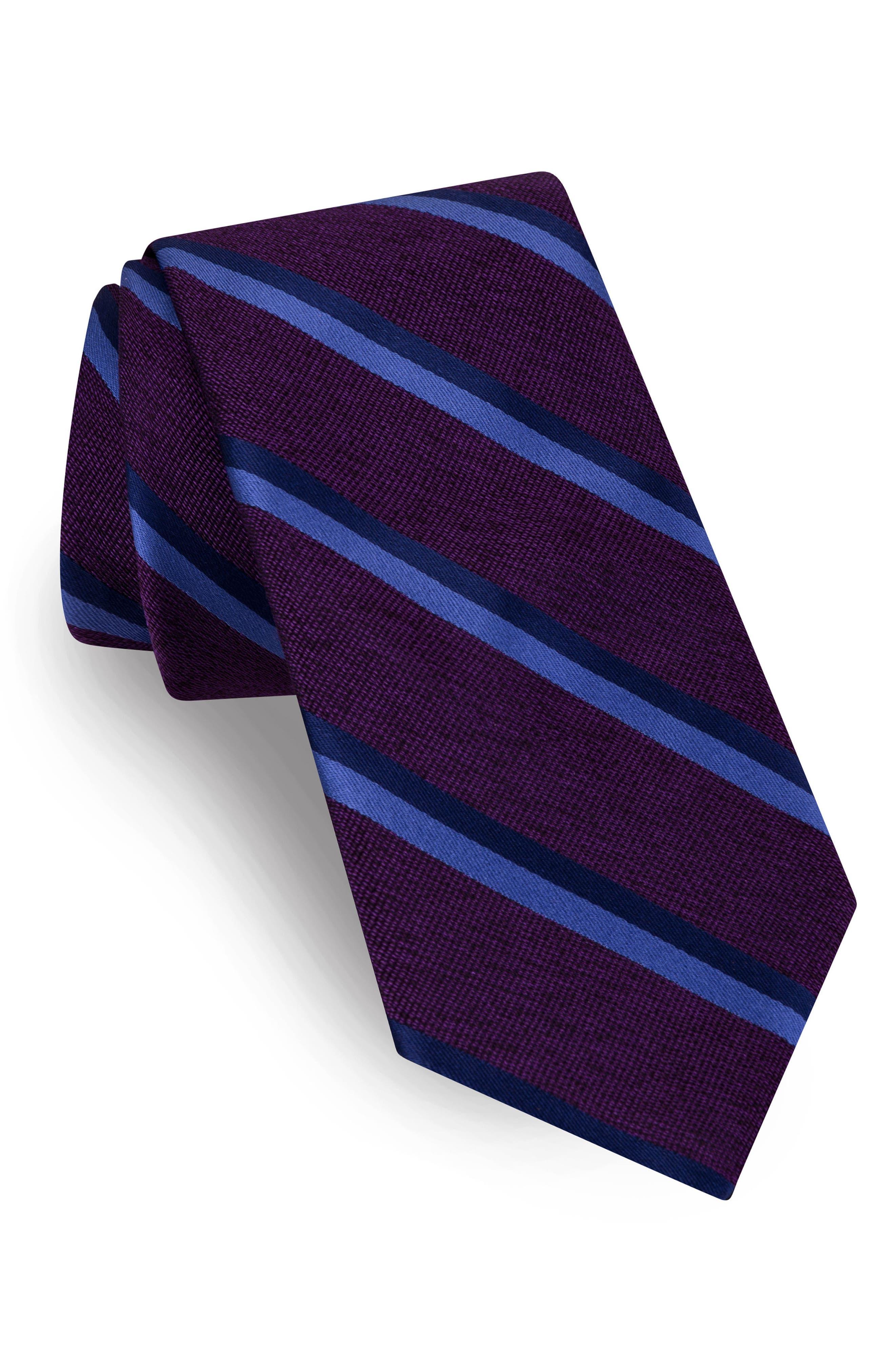 Alternate Image 1 Selected - Ted Baker London Stripe Silk Tie