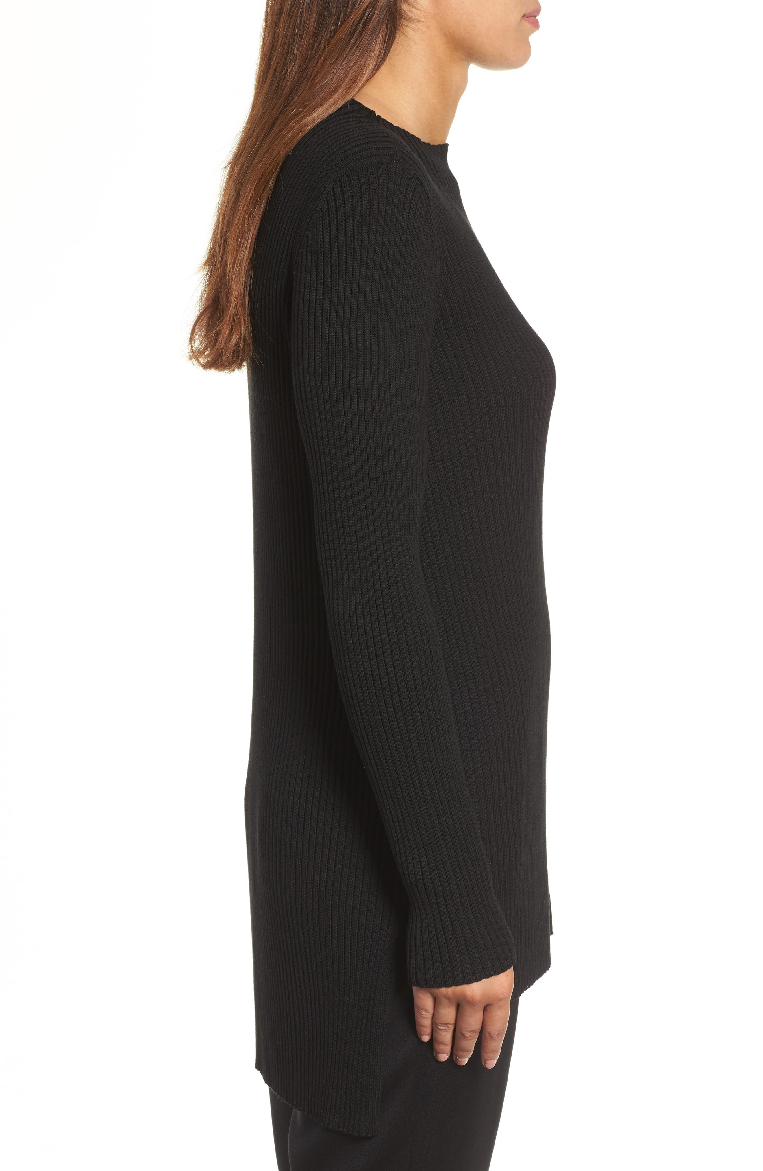Alternate Image 3  - Eileen Fisher Ribbed Tencel® Sweater