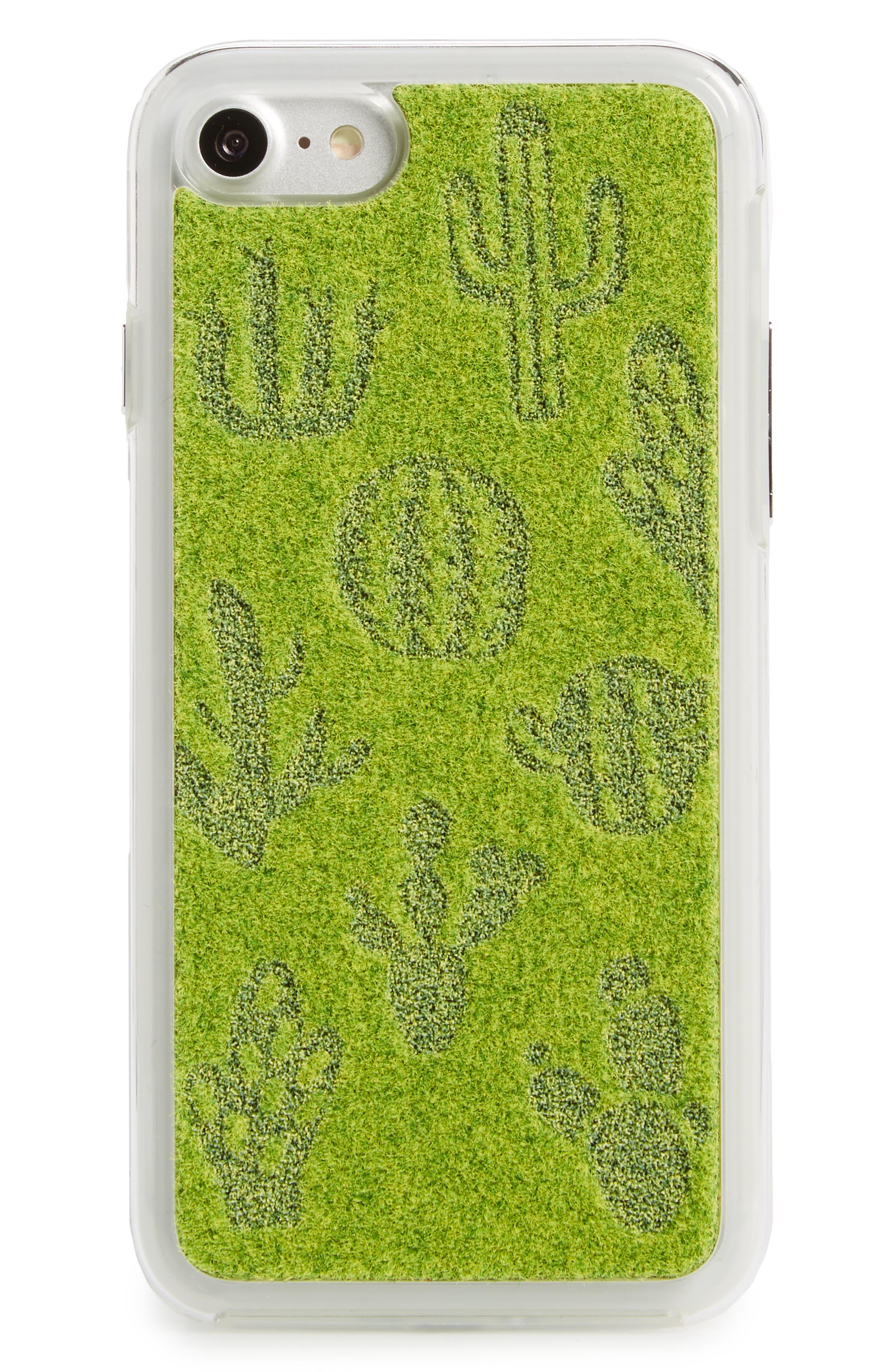 Cactus Me iPhone 7/8 & 7/8 Plus Case,                         Main,                         color, Light Green