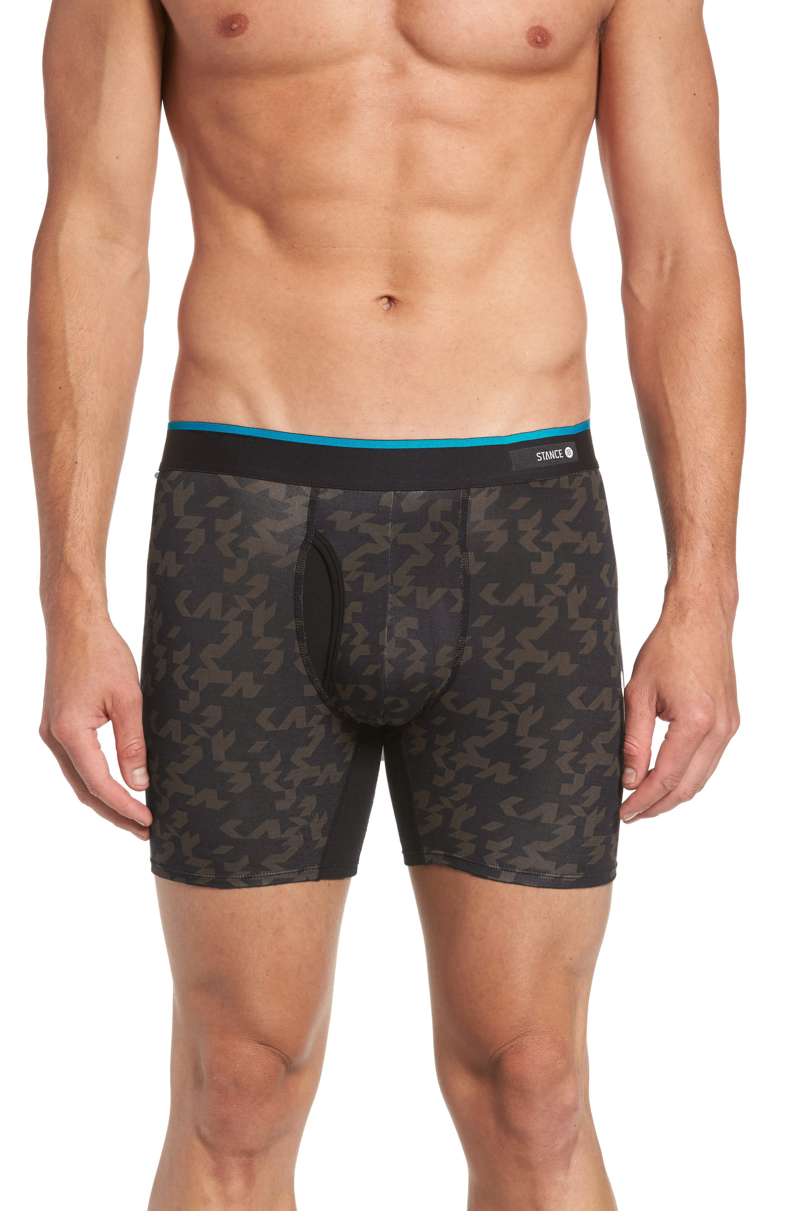 Alternate Image 1 Selected - Stance Bracket Geo Stretch Modal Boxer Brief