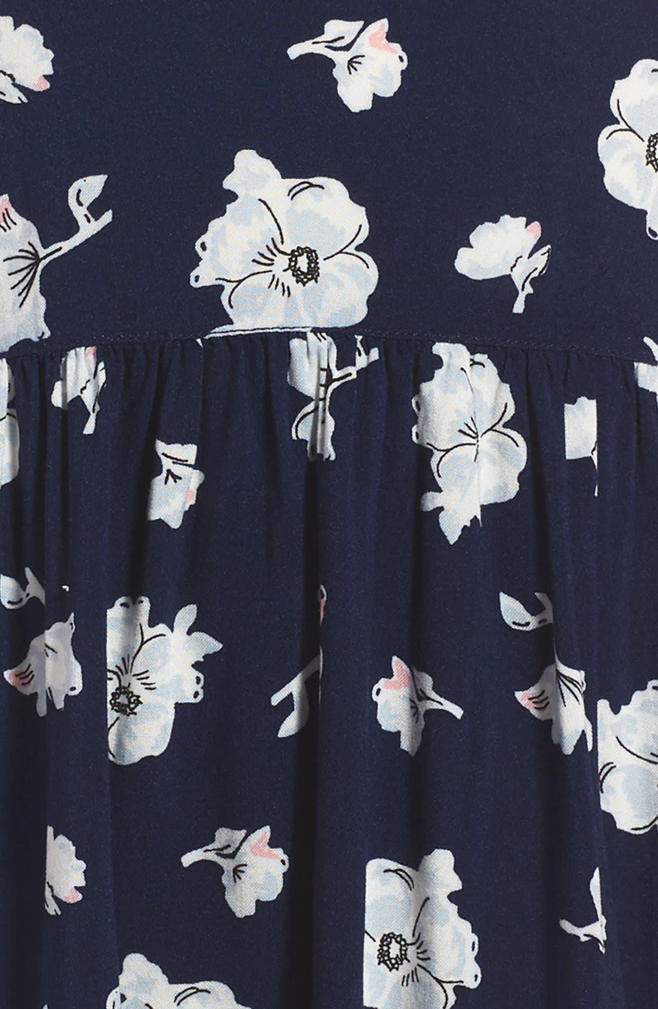 Easy Tee & Dress Set,                             Alternate thumbnail 4, color,                             Navy Peacoat Feminine Floral