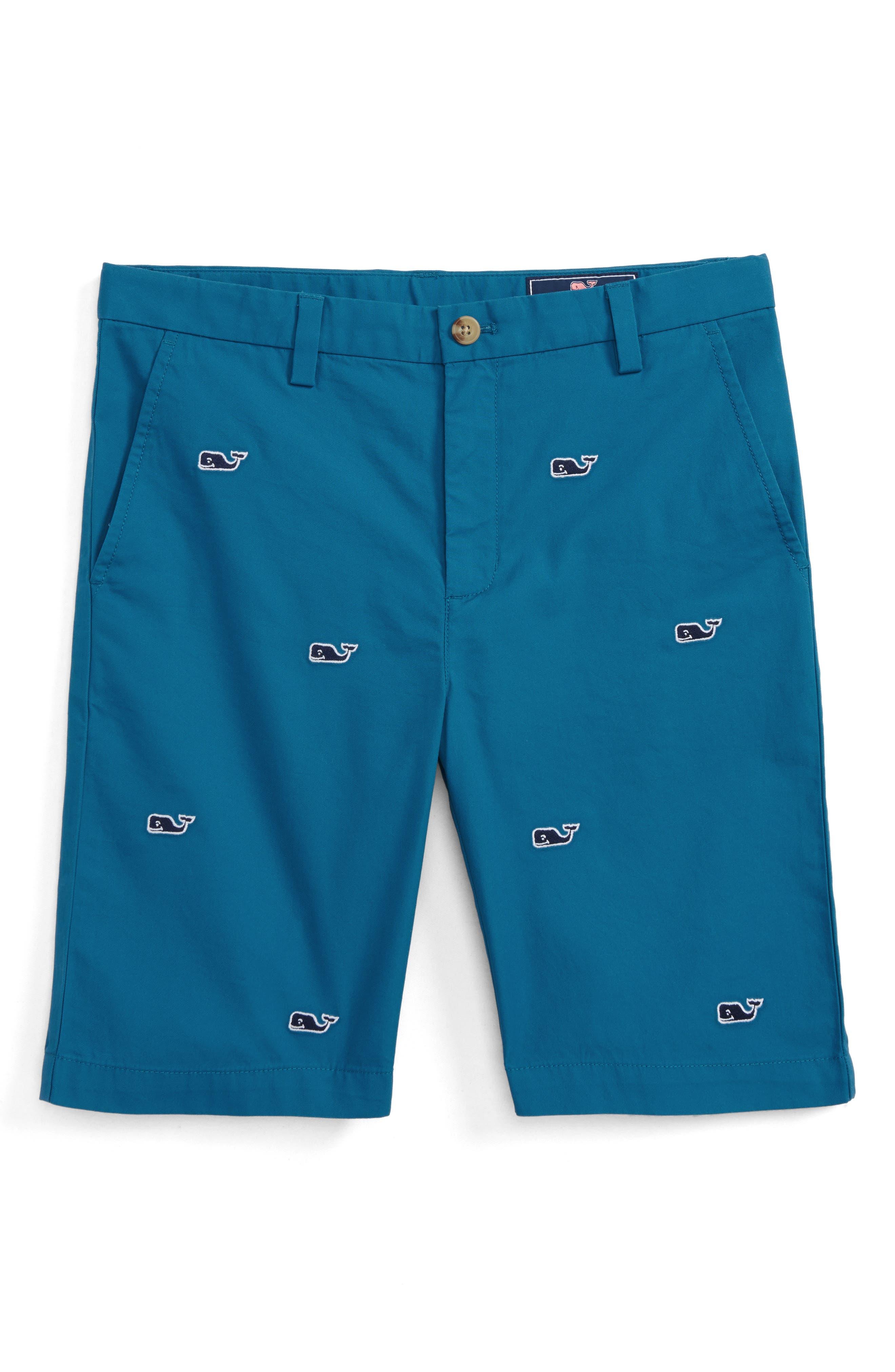 Breaker Whale Embroidered Shorts,                         Main,                         color, Schooner Blue