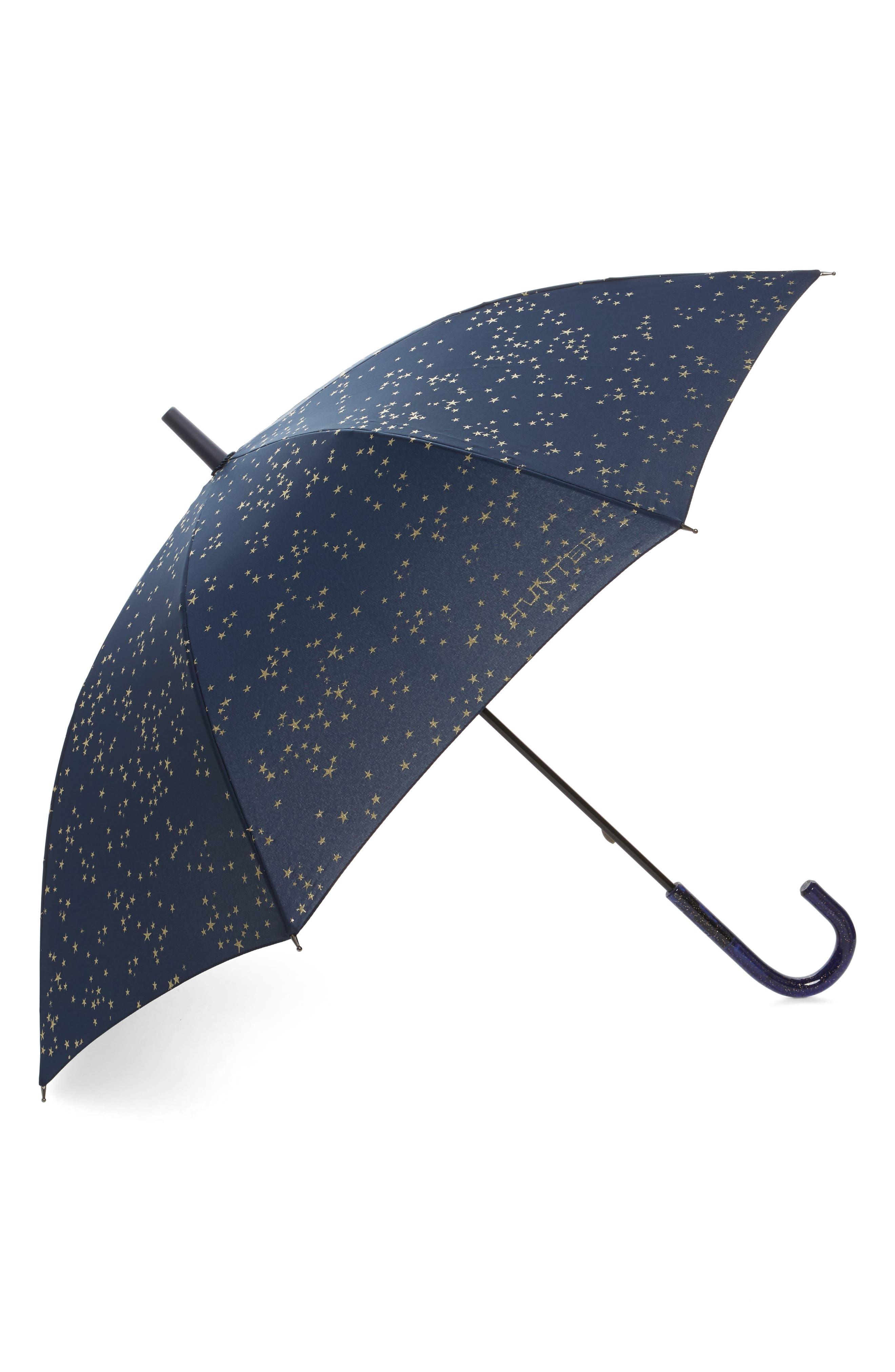 Glitter Constellation Print Walking Umbrella,                             Main thumbnail 1, color,                             Constellation Print