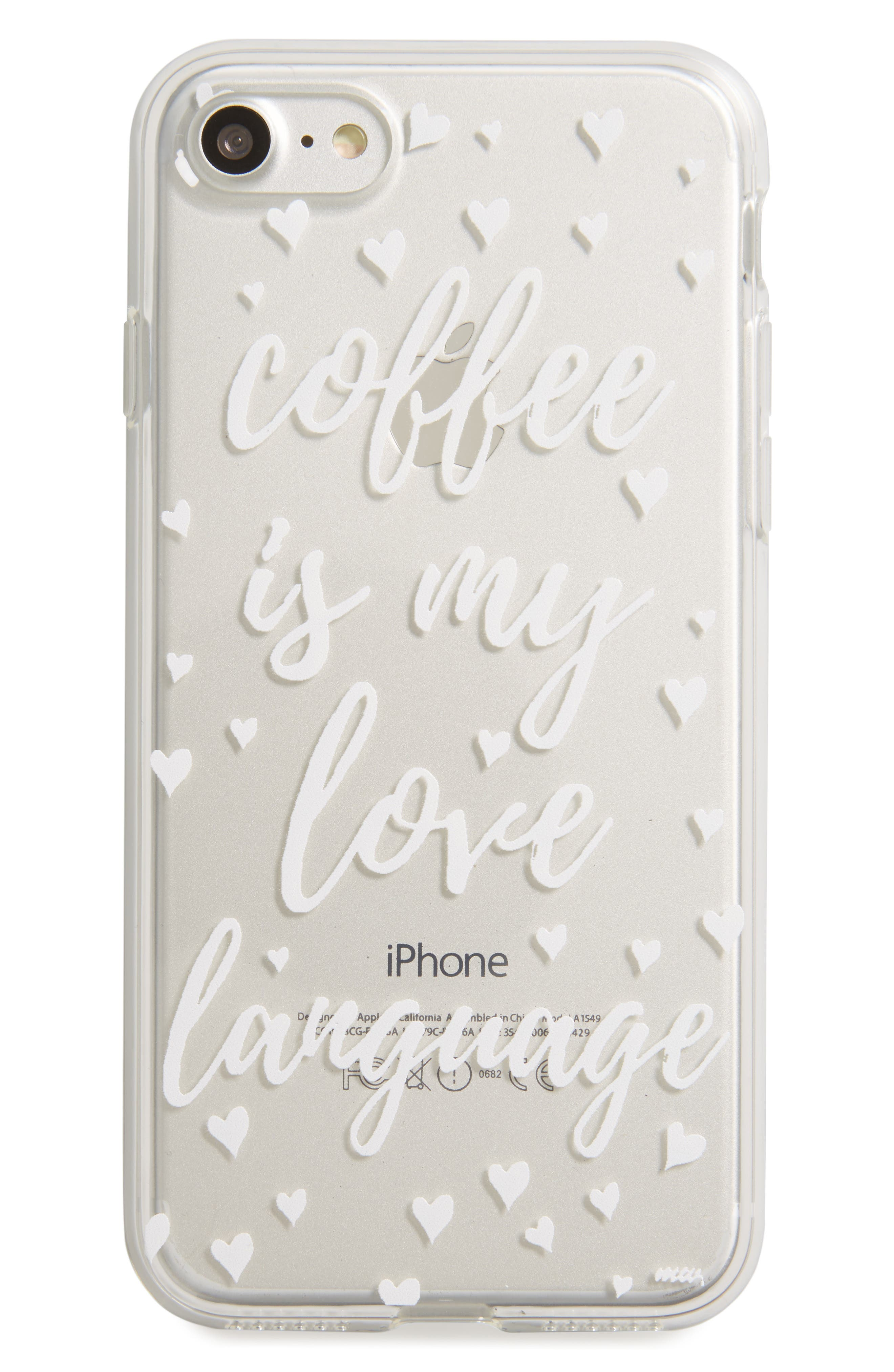MILKYWAY Coffee Is My Love Language iPhone 7 Case