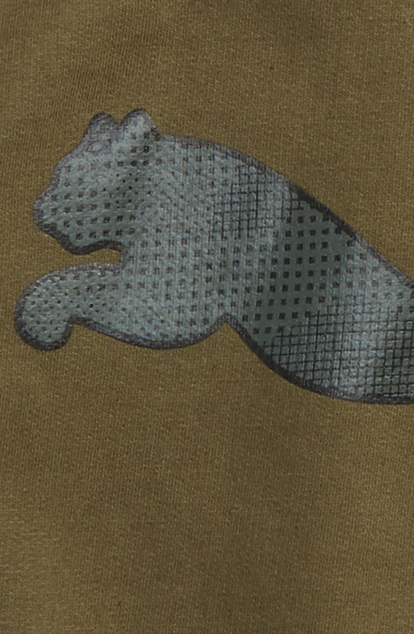Big Cat Graphic Hoodie,                             Alternate thumbnail 2, color,                             Olive Night