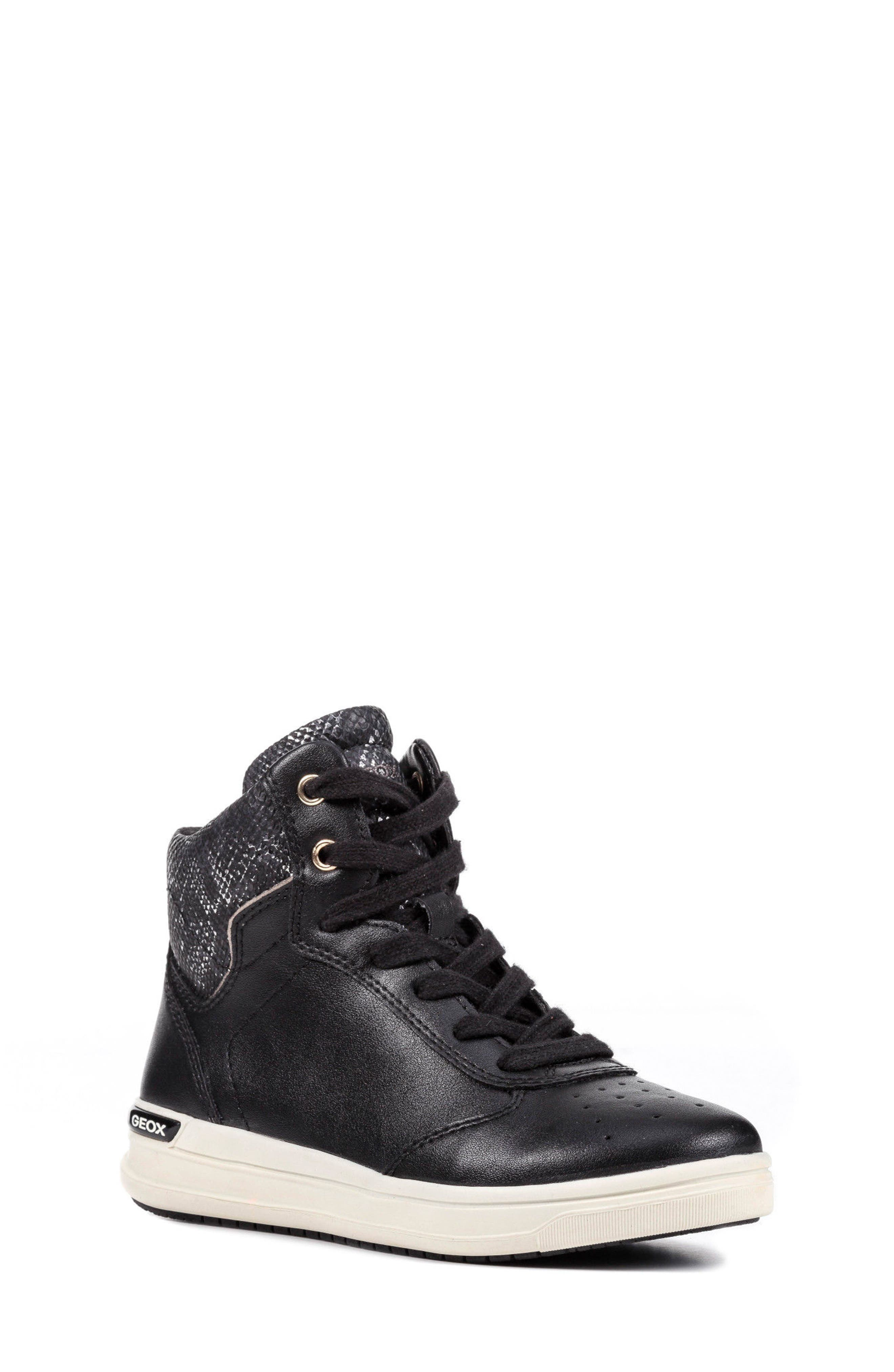 Geox Cave Up Girl High Top Sneaker (Toddler, Little Kid & Big Kid)