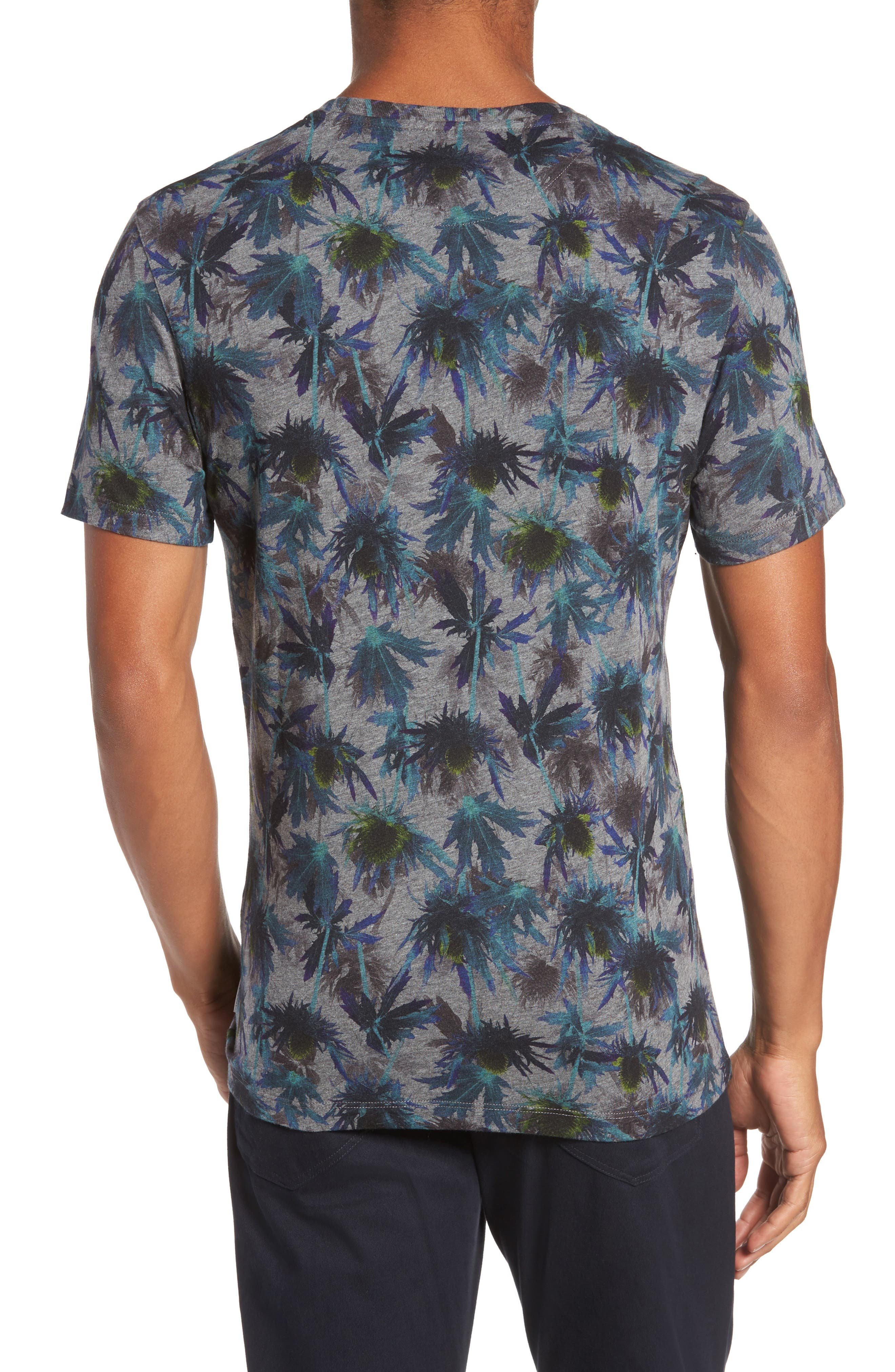 Katatak Thistle Print T-Shirt,                             Alternate thumbnail 2, color,                             Grey