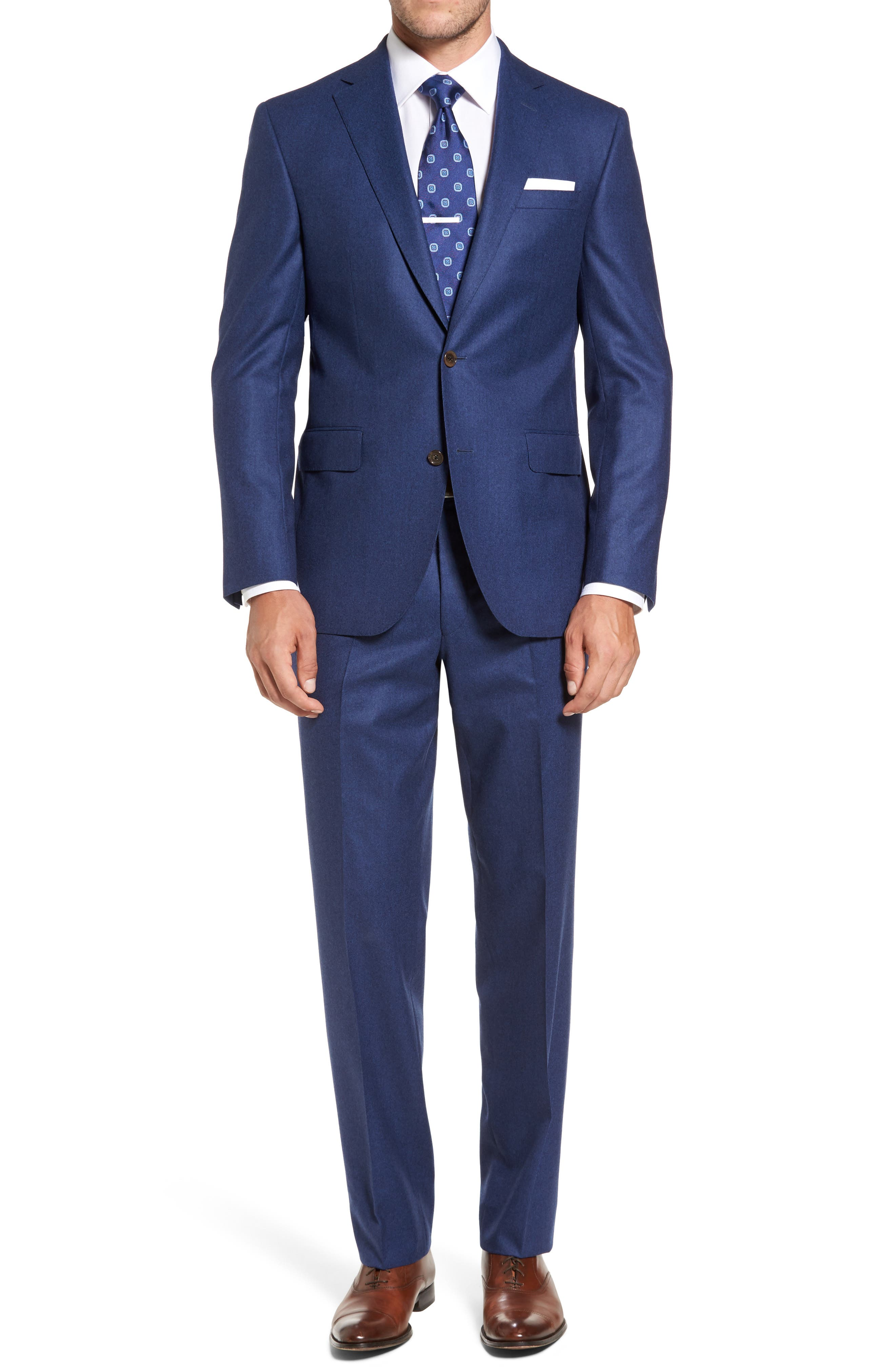 Main Image - David Donahue Ryan Classic Fit Solid Wool Suit