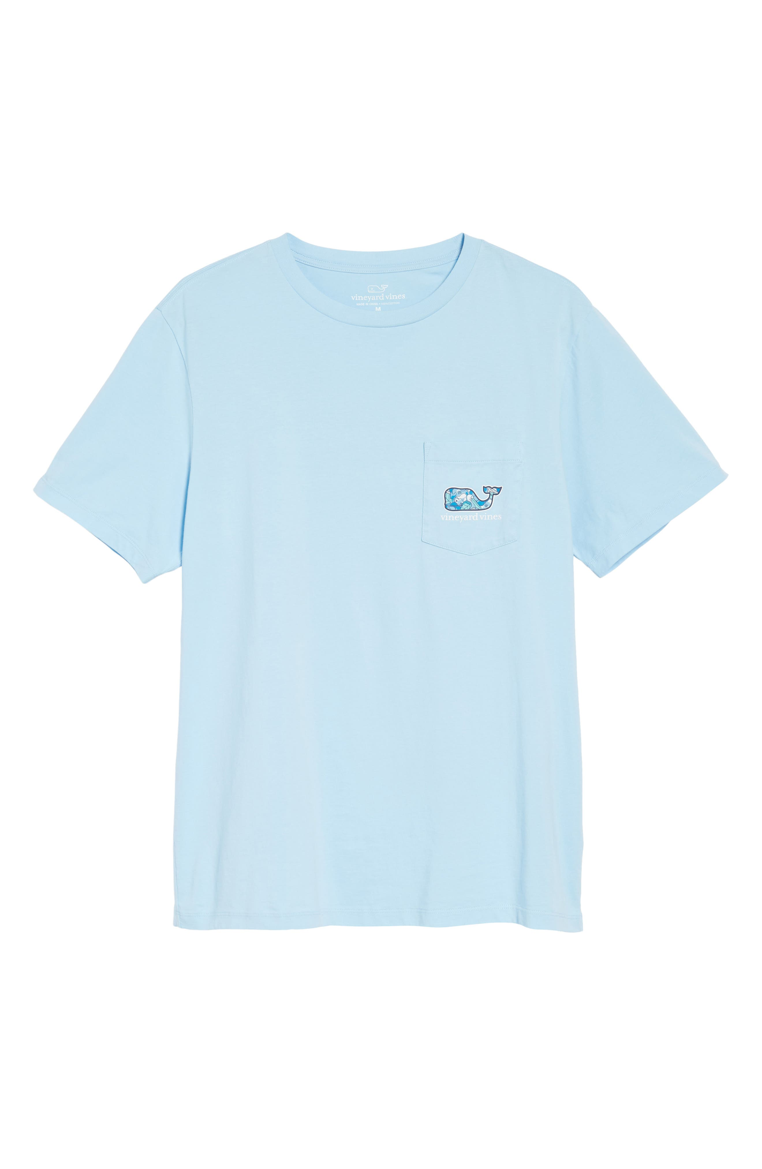 Pelican Magnolias Graphic T-Shirt,                             Alternate thumbnail 6, color,                             Airy Blue