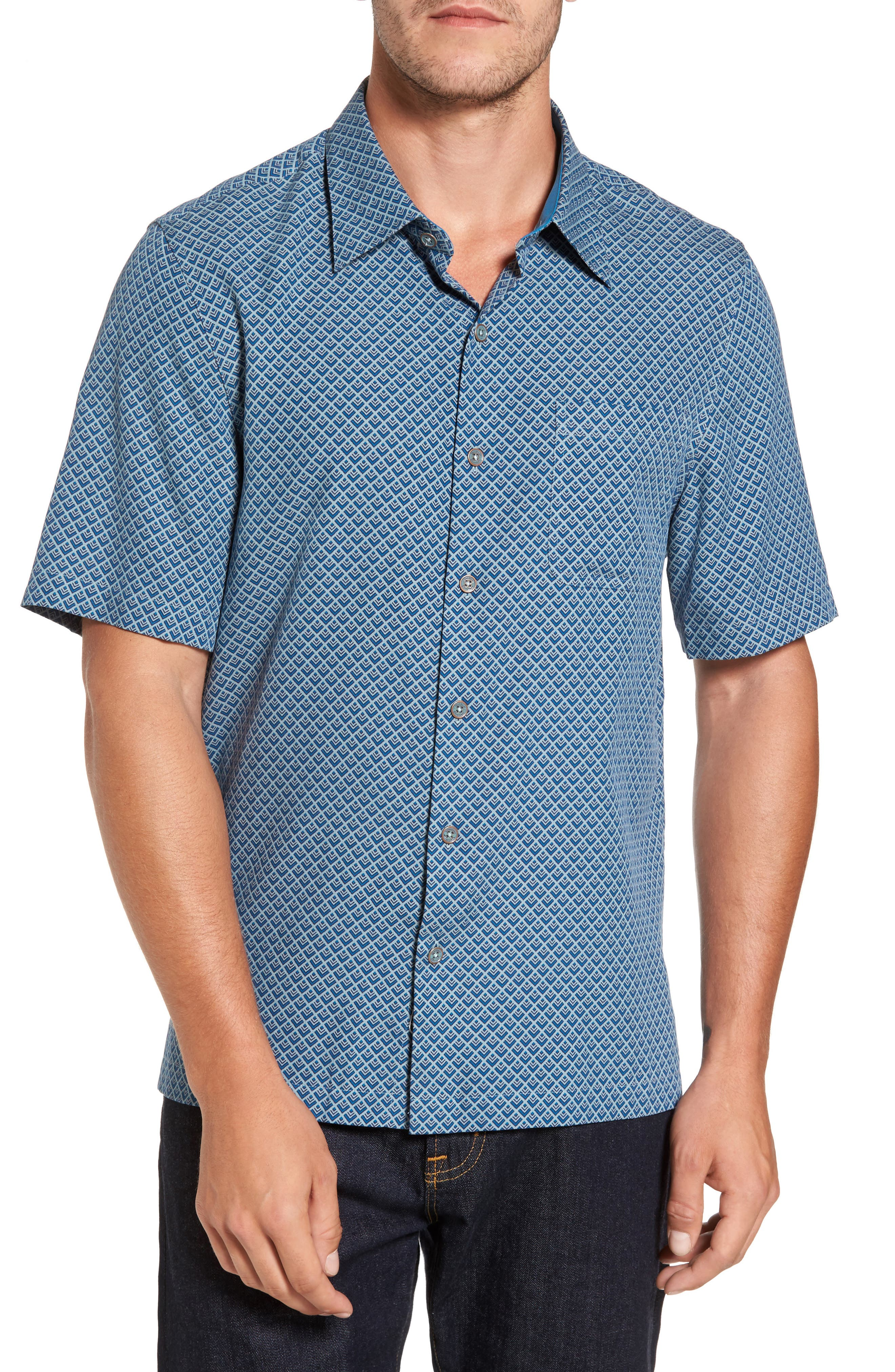 Alternate Image 1 Selected - Nat Nast Ajax Classic Fit Silk Blend Camp Shirt