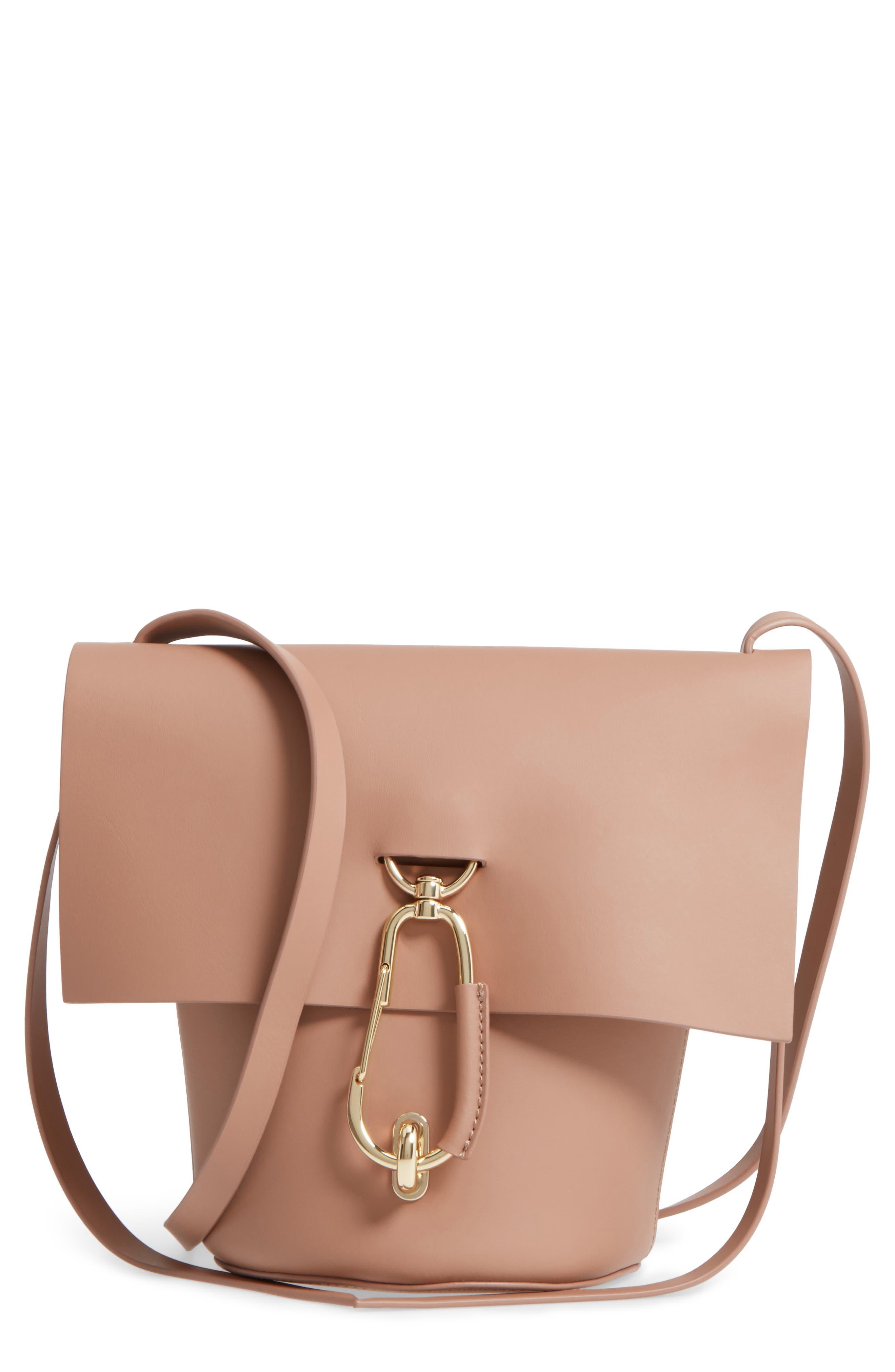 Alternate Image 1 Selected - ZAC Zac Posen Belay Leather Crossbody Bucket Bag
