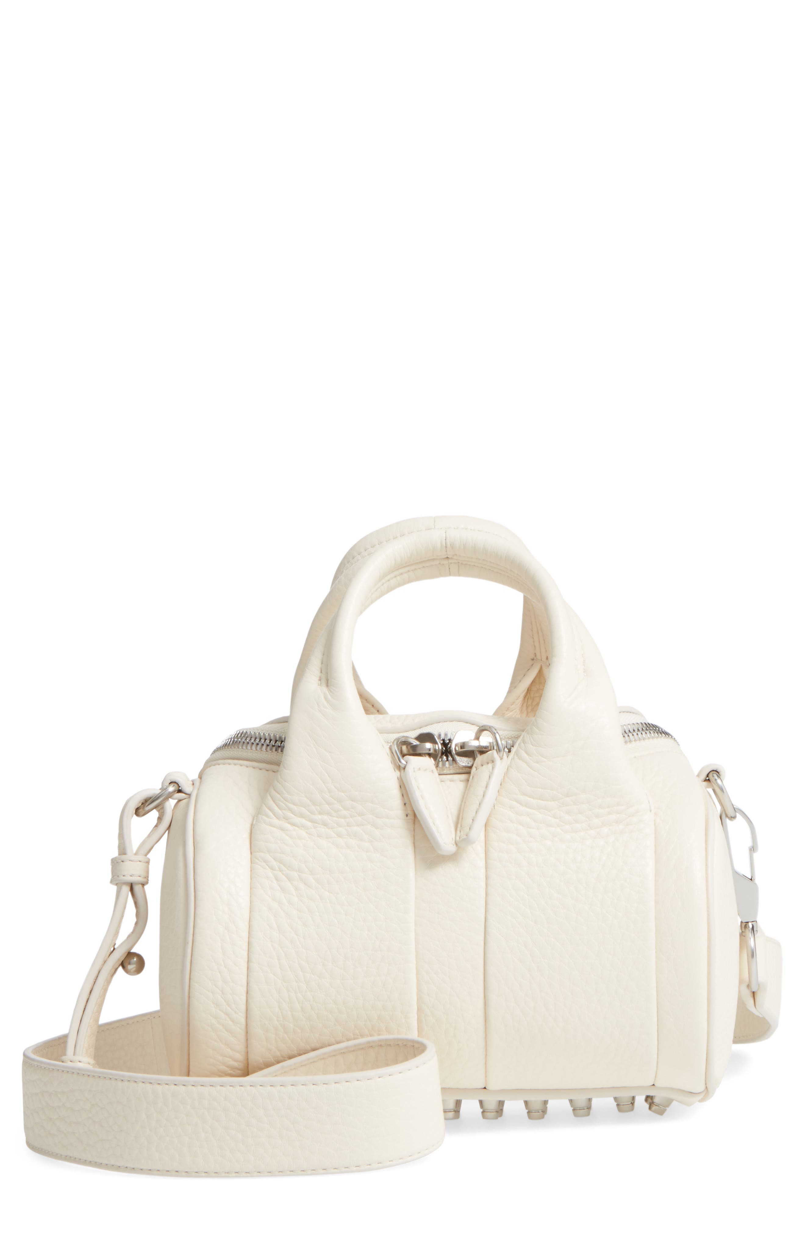 ALEXANDER WANG Mini Rockie Dumbo Slick Leather Satchel