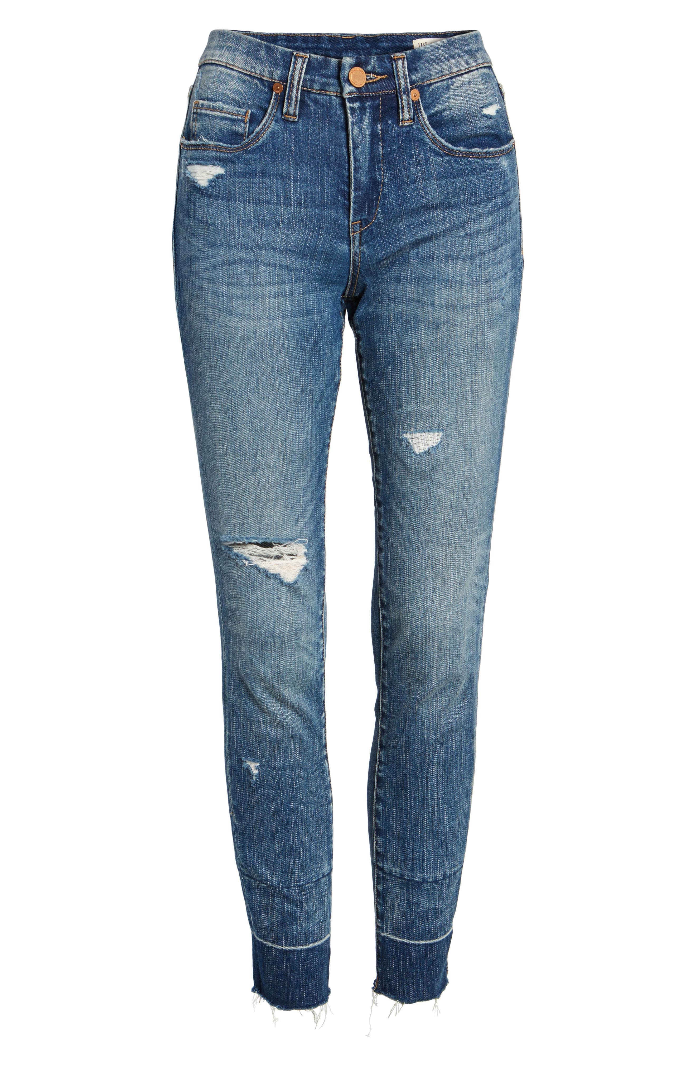 Ankle Skinny Jeans,                             Alternate thumbnail 8, color,                             Dark Wash
