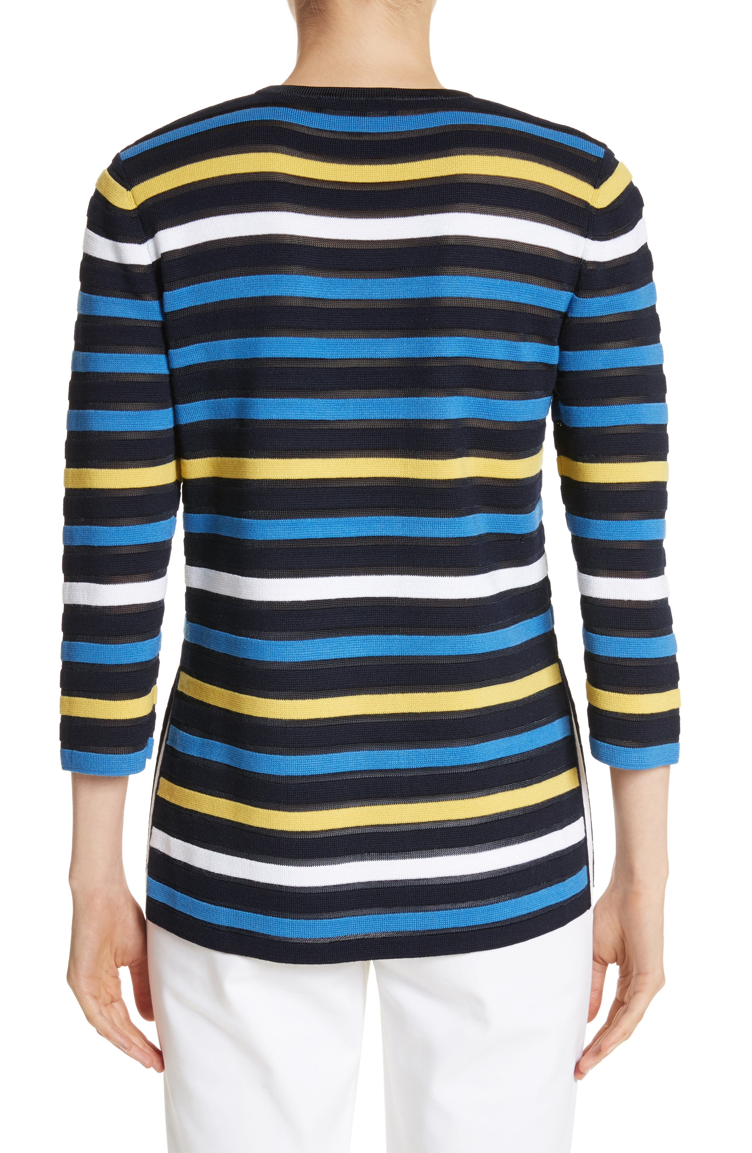 Ombré Stripe Sweater,                             Alternate thumbnail 2, color,                             Navy Multi