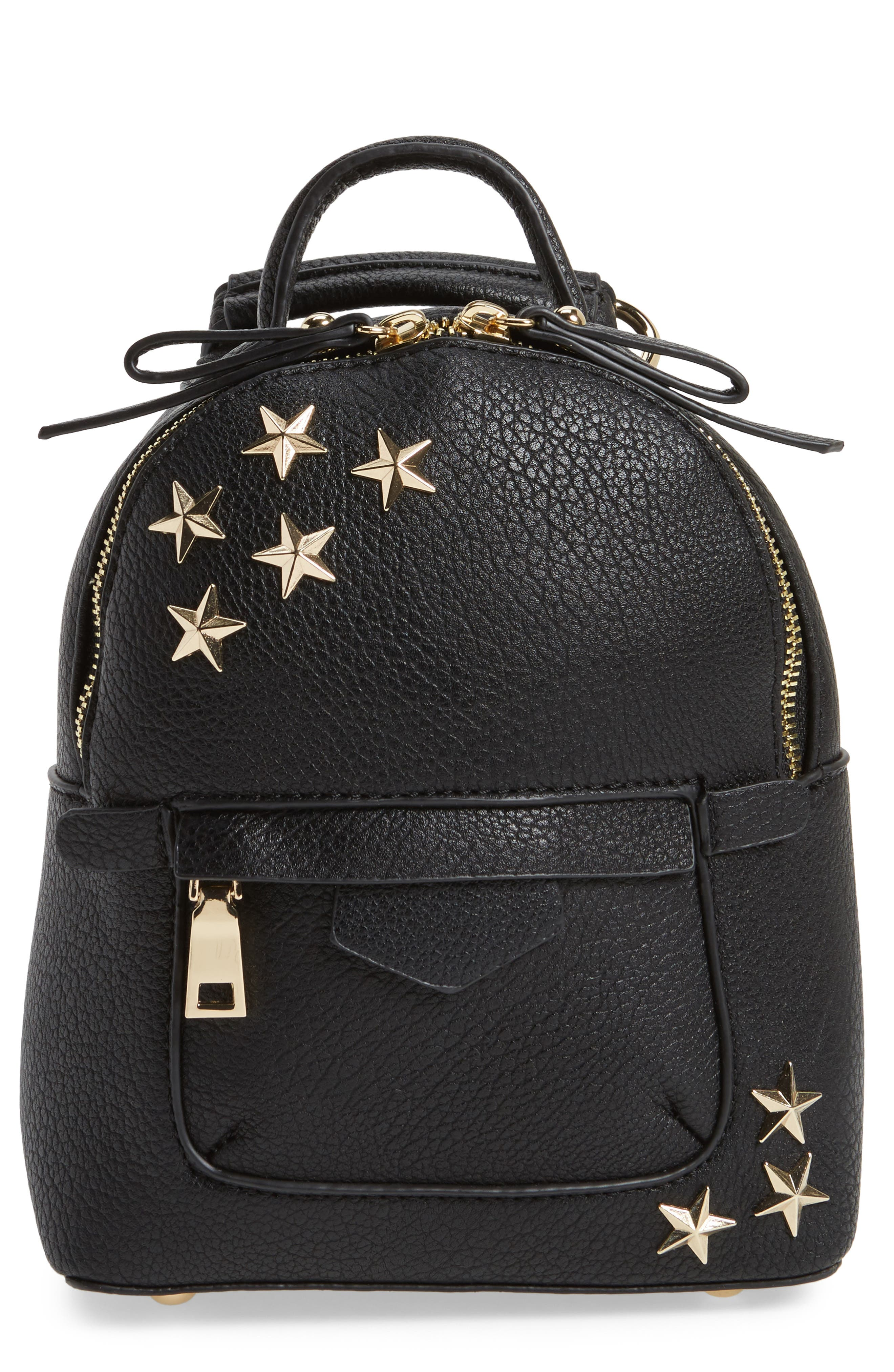 BP. Mini Star Stud Faux Leather Backpack