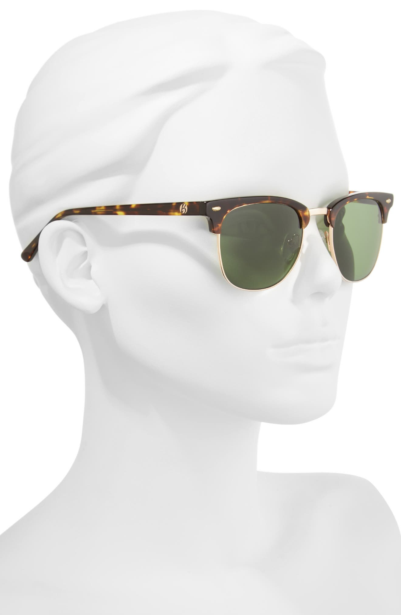 Copeland 51mm Sunglasses,                             Alternate thumbnail 2, color,                             Golden Tortoise/ Green