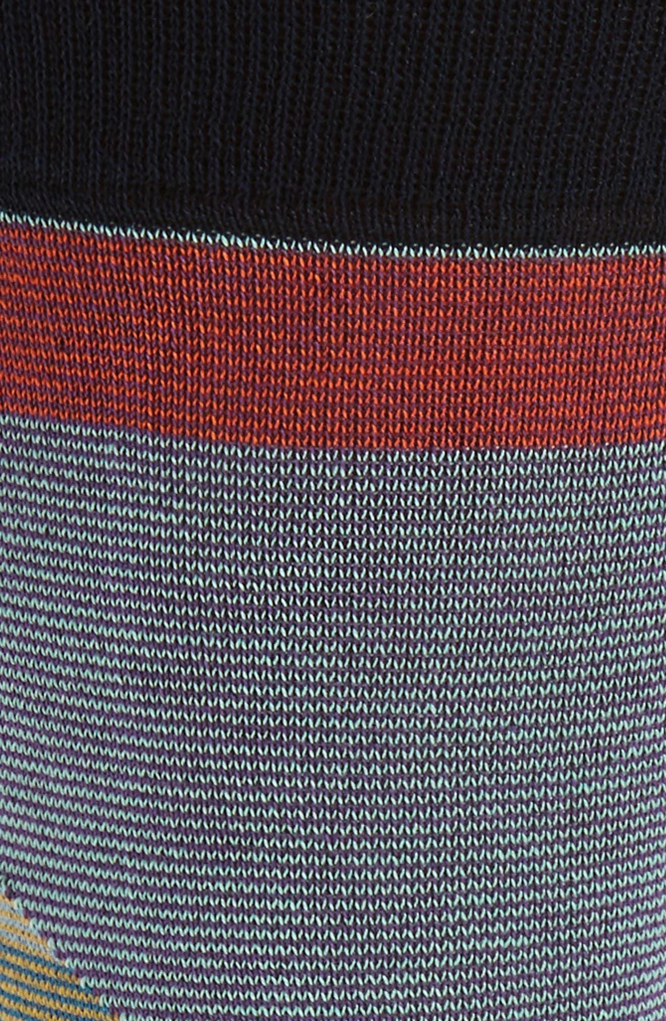 Geometric Crew Socks,                             Alternate thumbnail 2, color,                             Blue