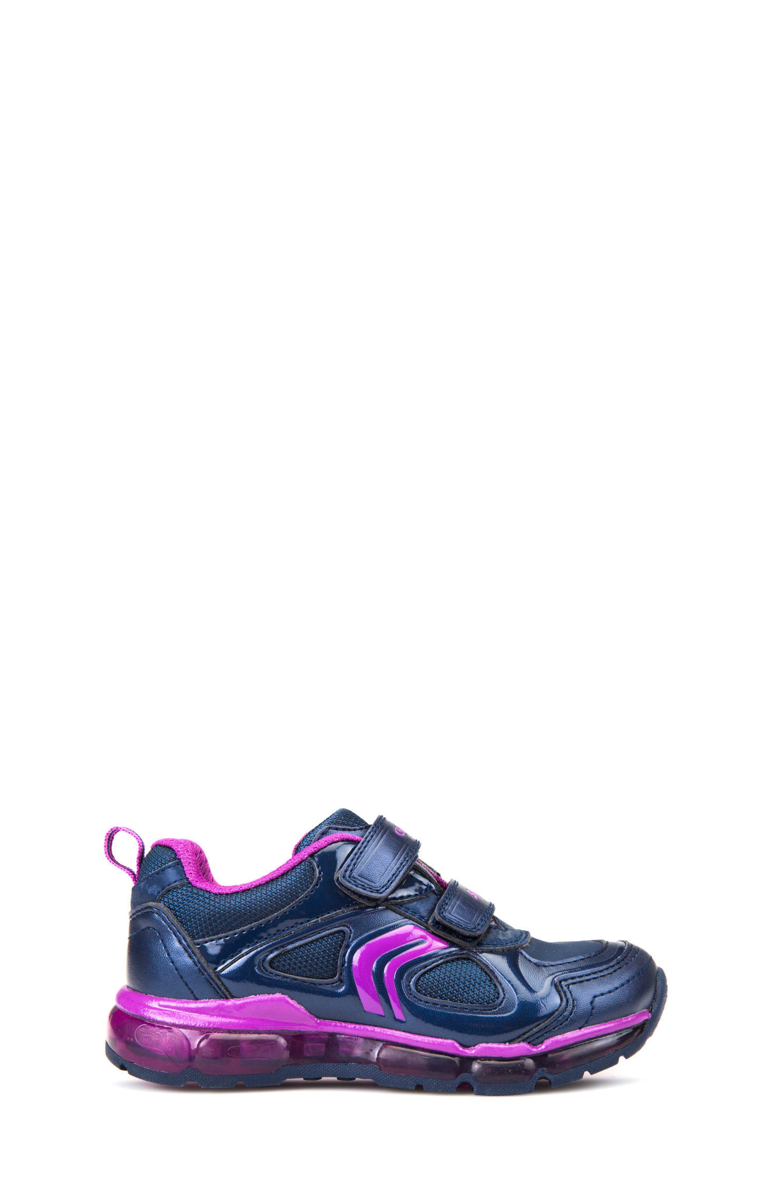 'Jr Android 2' Light-Up Sneaker,                             Alternate thumbnail 3, color,                             Navy/ Purple