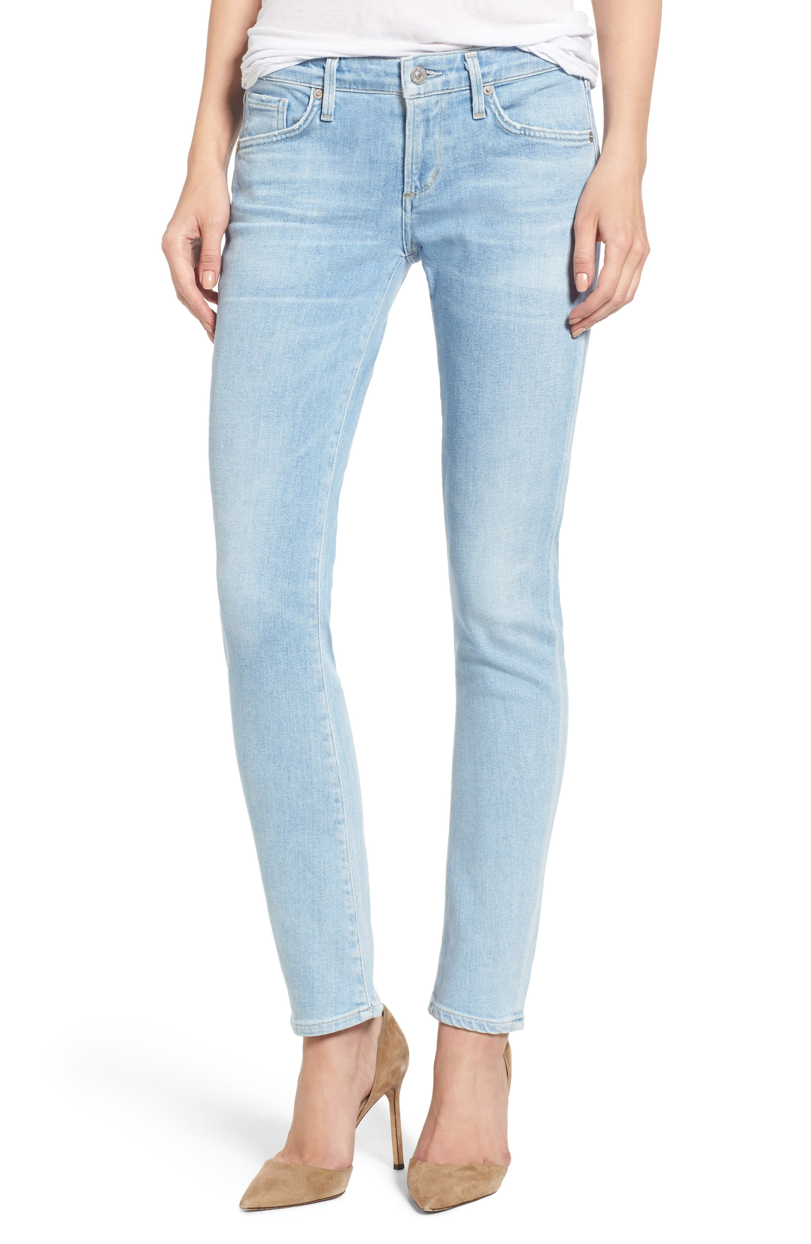 Racer Skinny Jeans,                         Main,                         color, Oracle