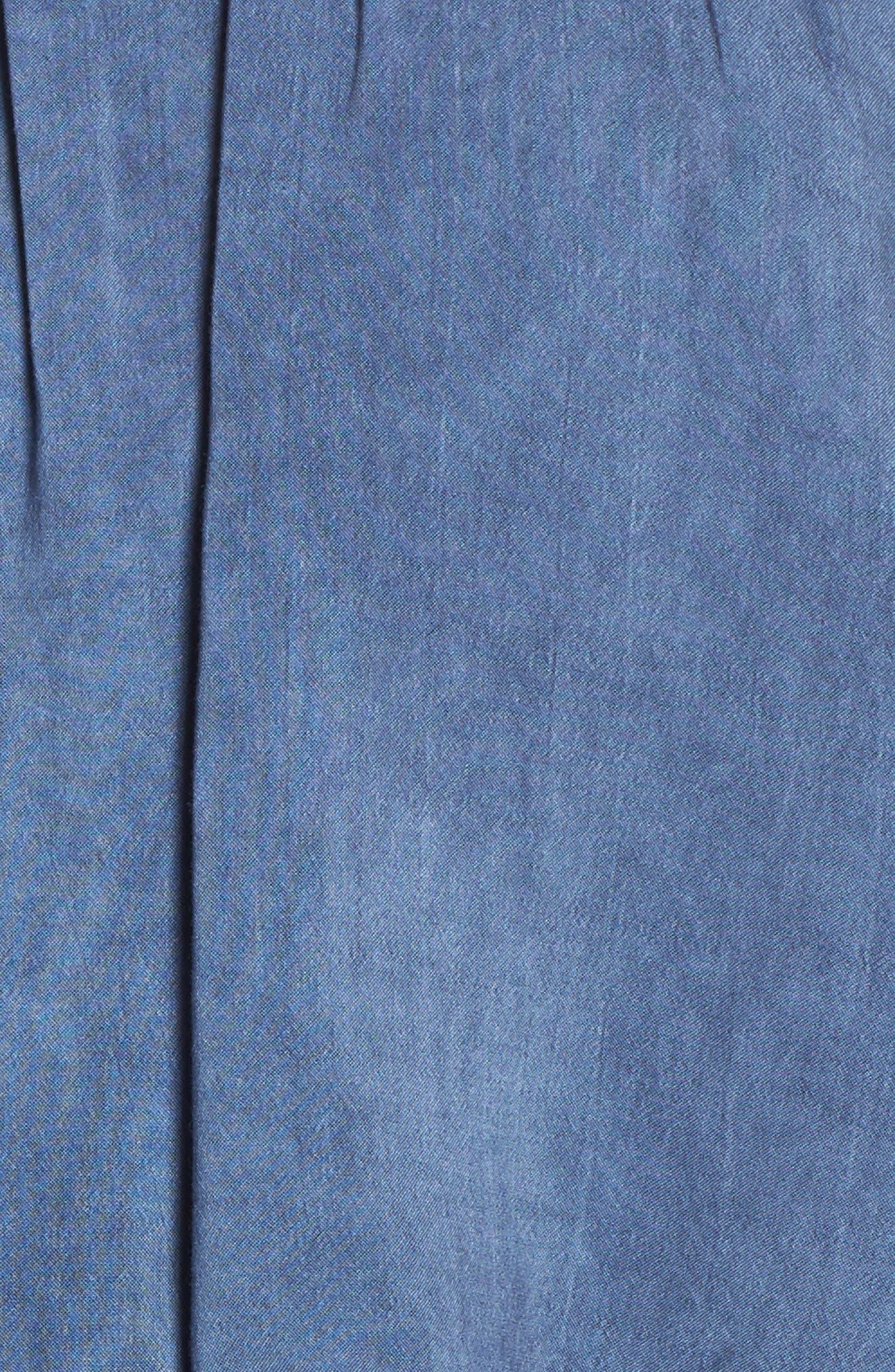 Off the Shoulder Cover-Up Jumpsuit,                             Alternate thumbnail 5, color,                             Indigo