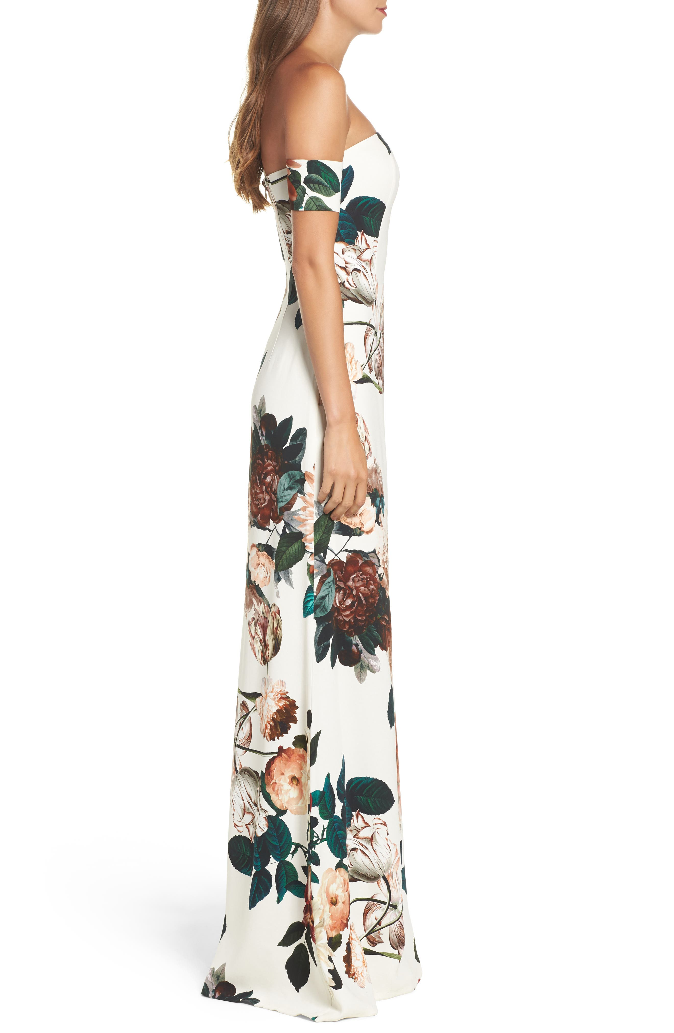Alternate Image 3  - Sachin & Babi Noir Sahni Floral Off the Shoulder Gown
