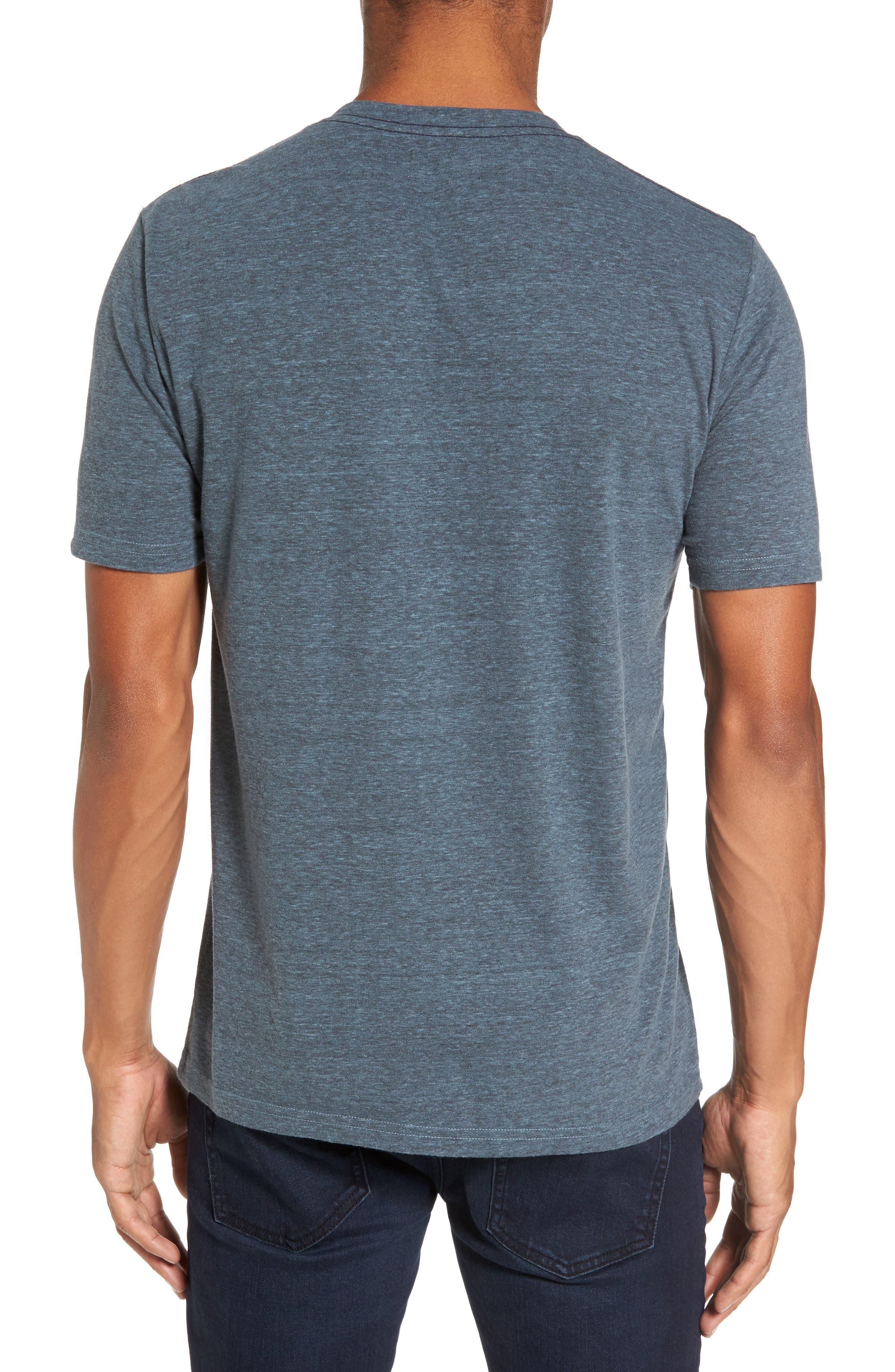 V-Neck Heathered T-Shirt,                             Alternate thumbnail 2, color,                             Real Teal