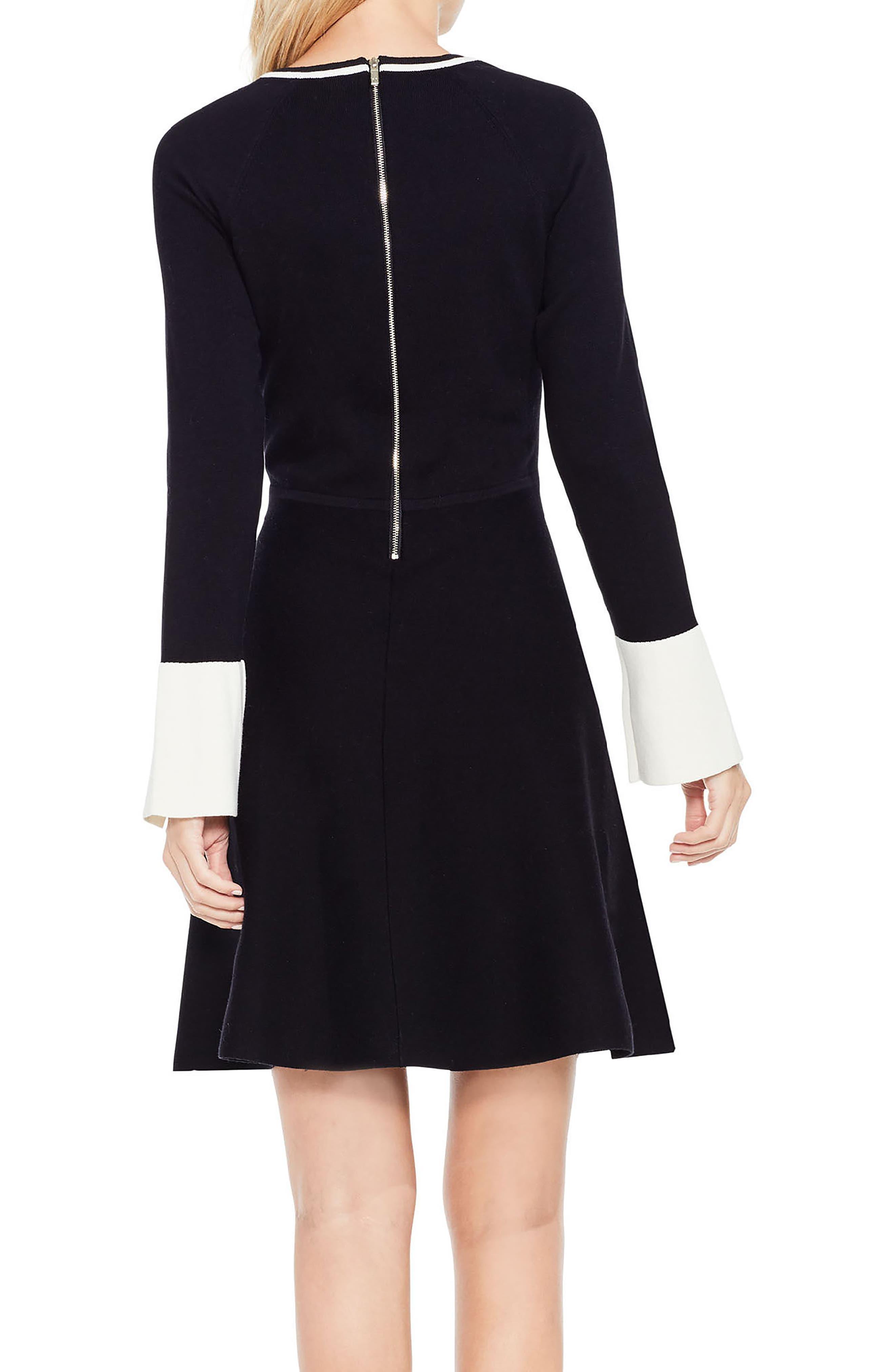 Alternate Image 3  - Vince Camuto Fit & Flare Sweater Dress (Regular & Petite)