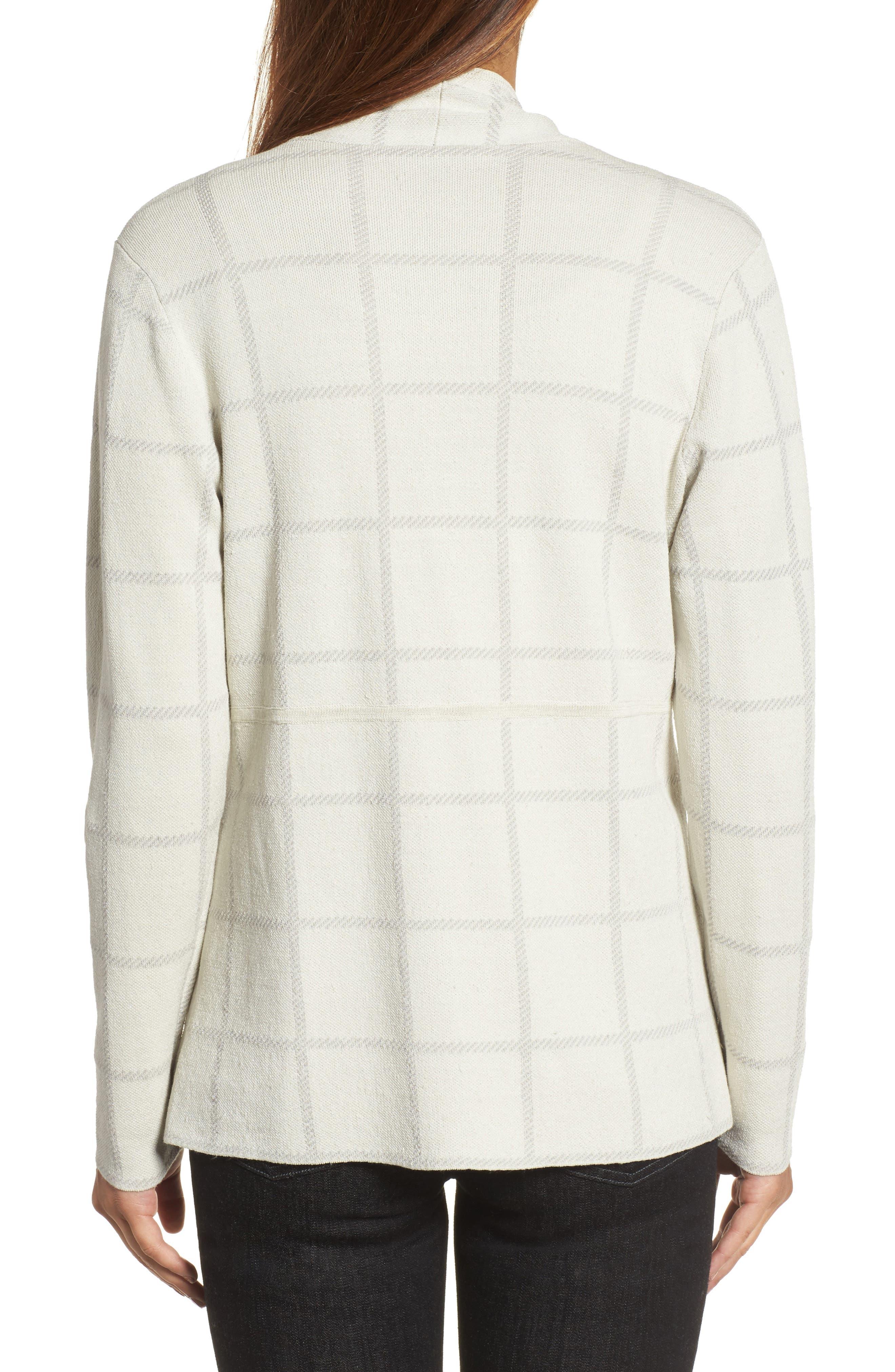 Alternate Image 2  - Eileen Fisher Linen Blend Angle Front Cardigan
