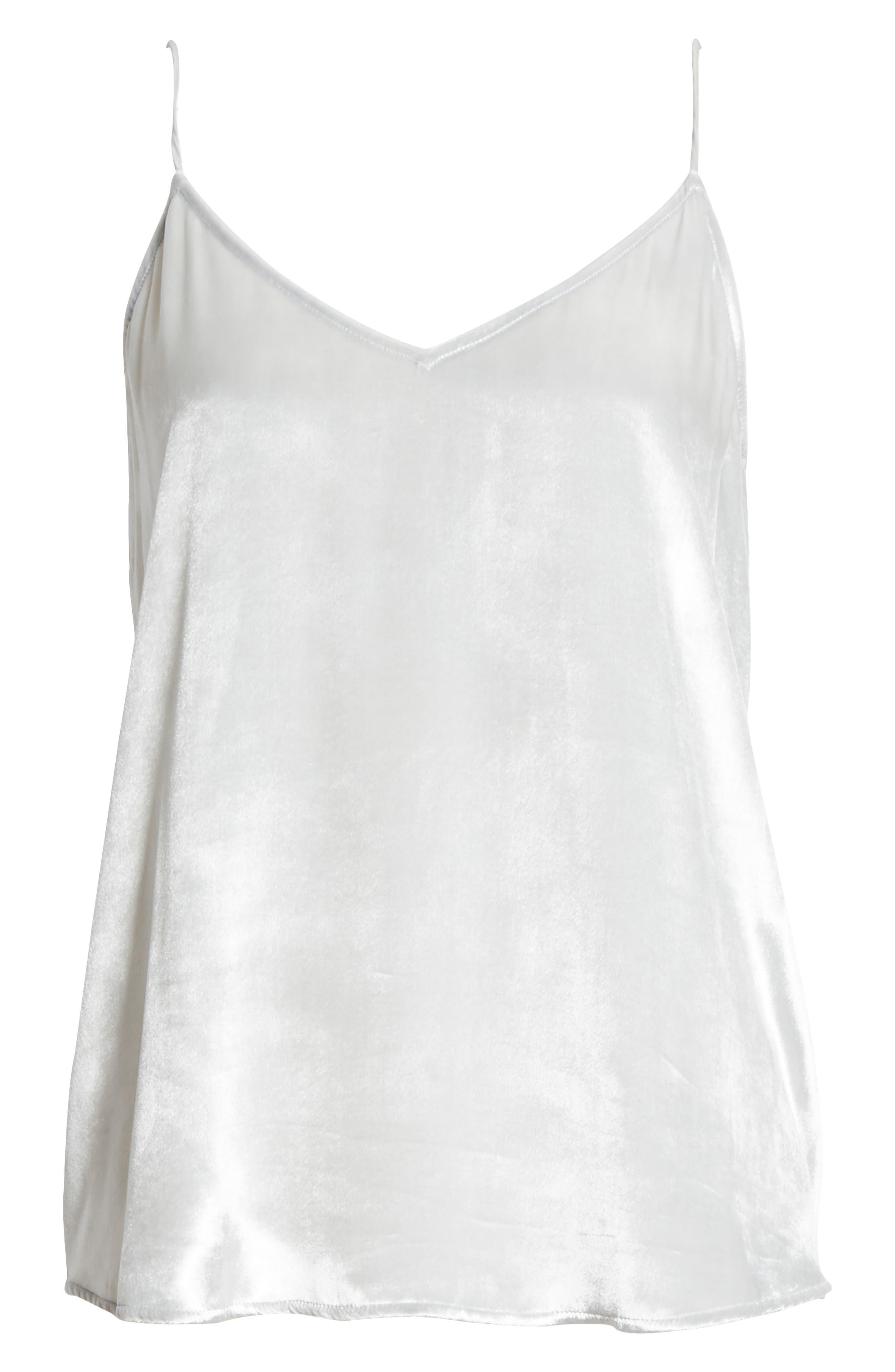 Layla Velvet Camisole,                             Alternate thumbnail 6, color,                             Mineral Grey