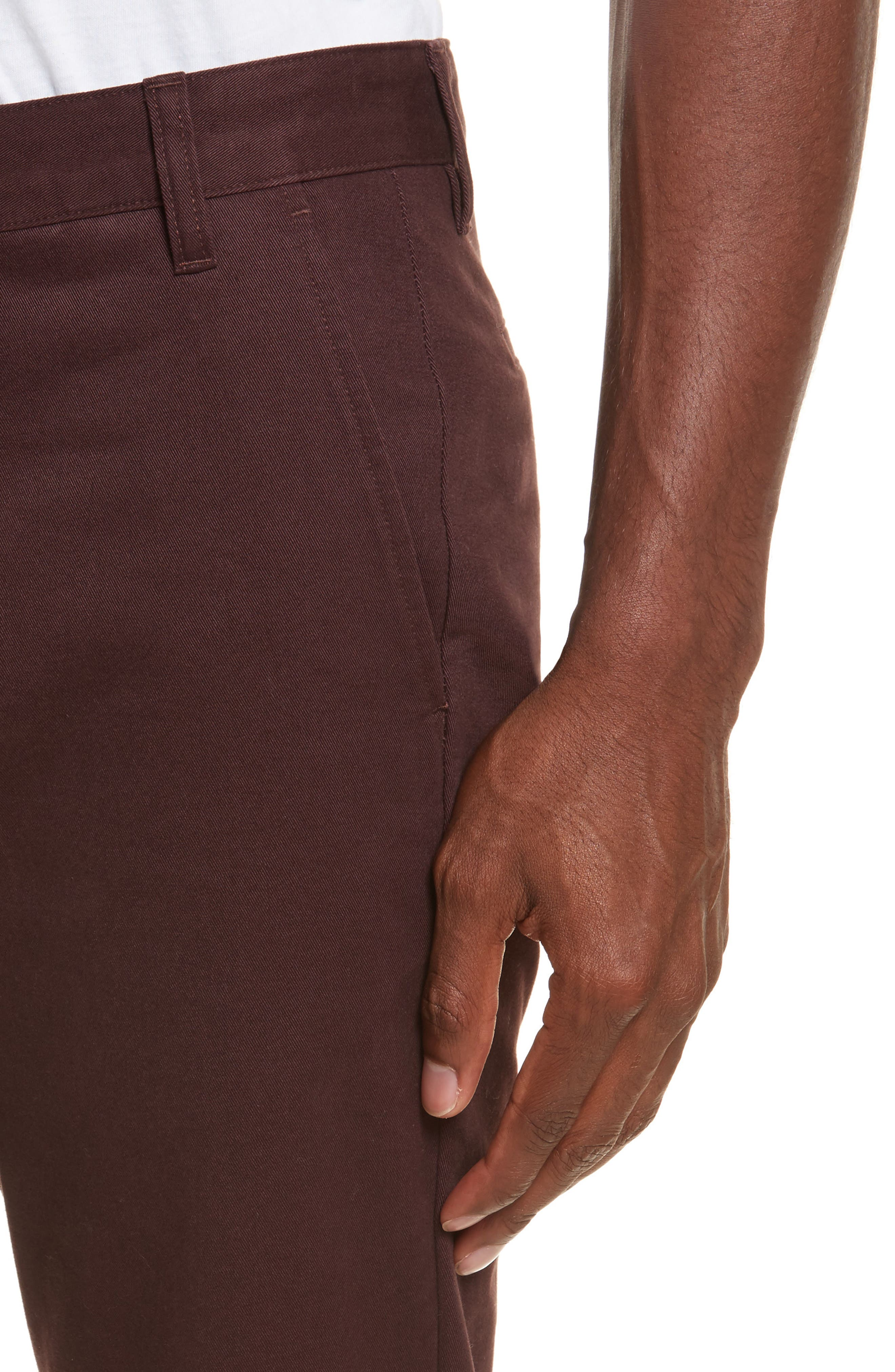Aros Brushed Twill Chinos,                             Alternate thumbnail 4, color,                             Hematite Red
