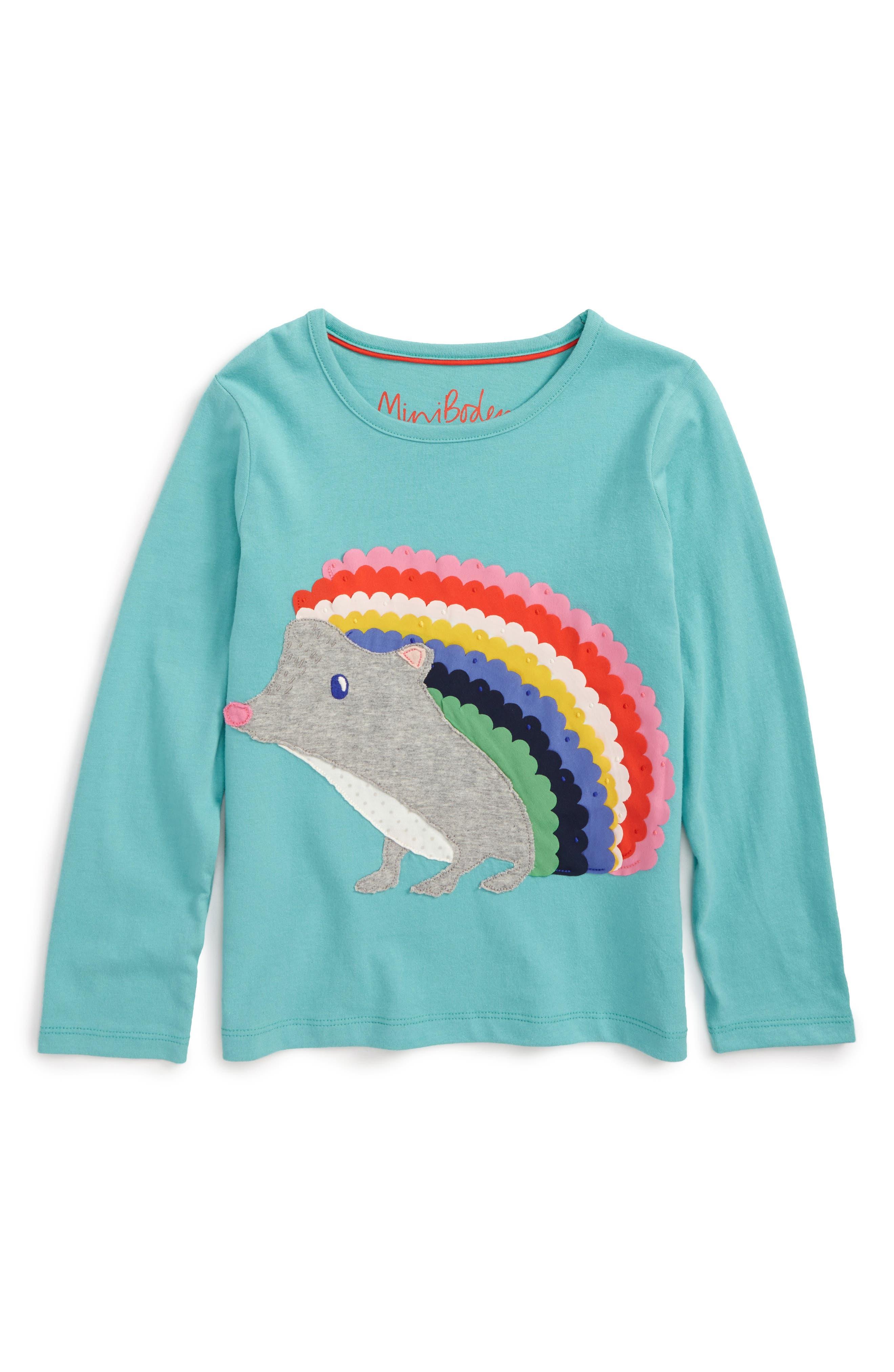 Boden Big Appliqué T-Shirt,                         Main,                         color, Blue/ Green
