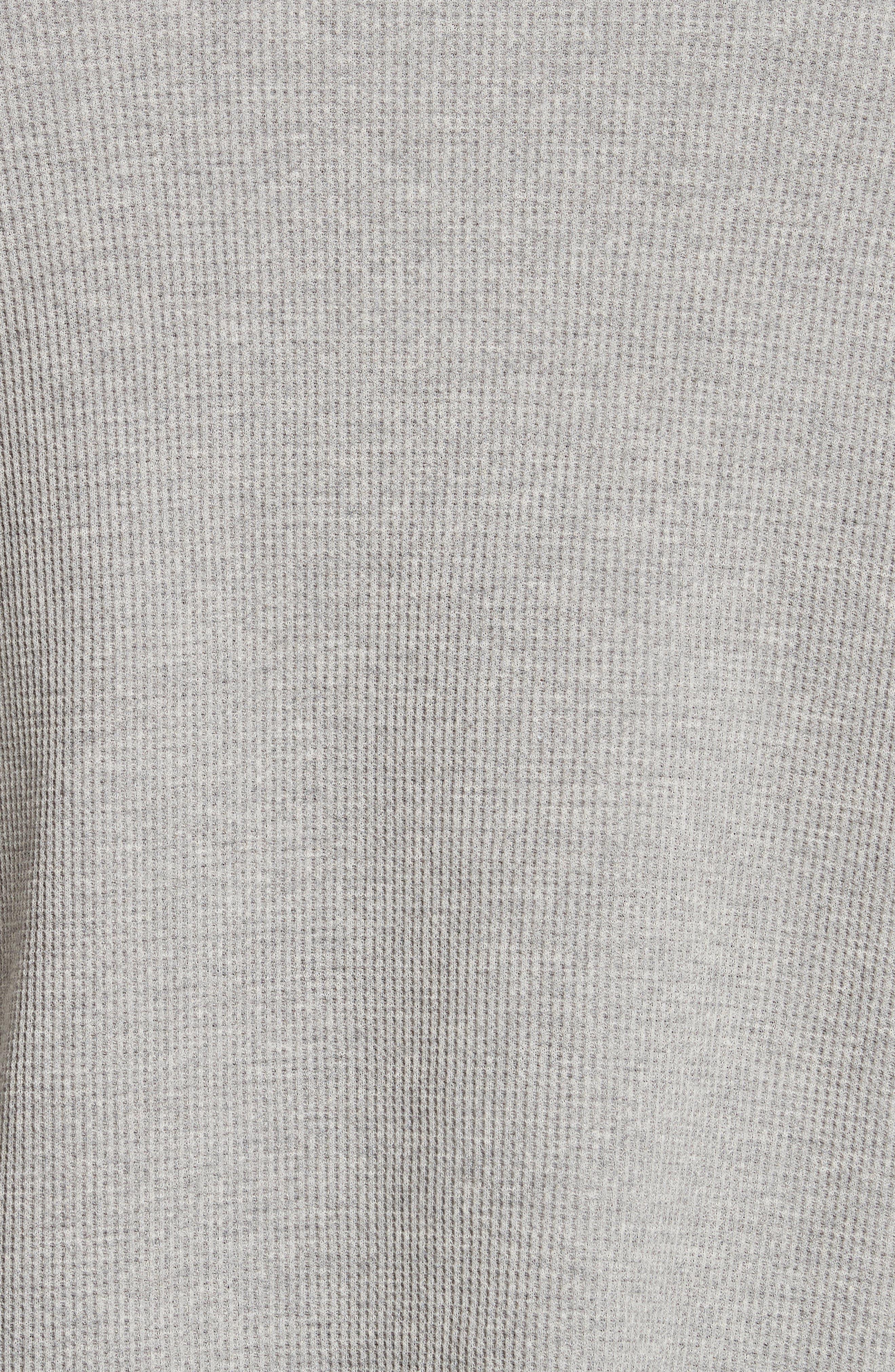 Military Panel Sleeve Thermal Shirt,                             Alternate thumbnail 5, color,                             Grey Melange