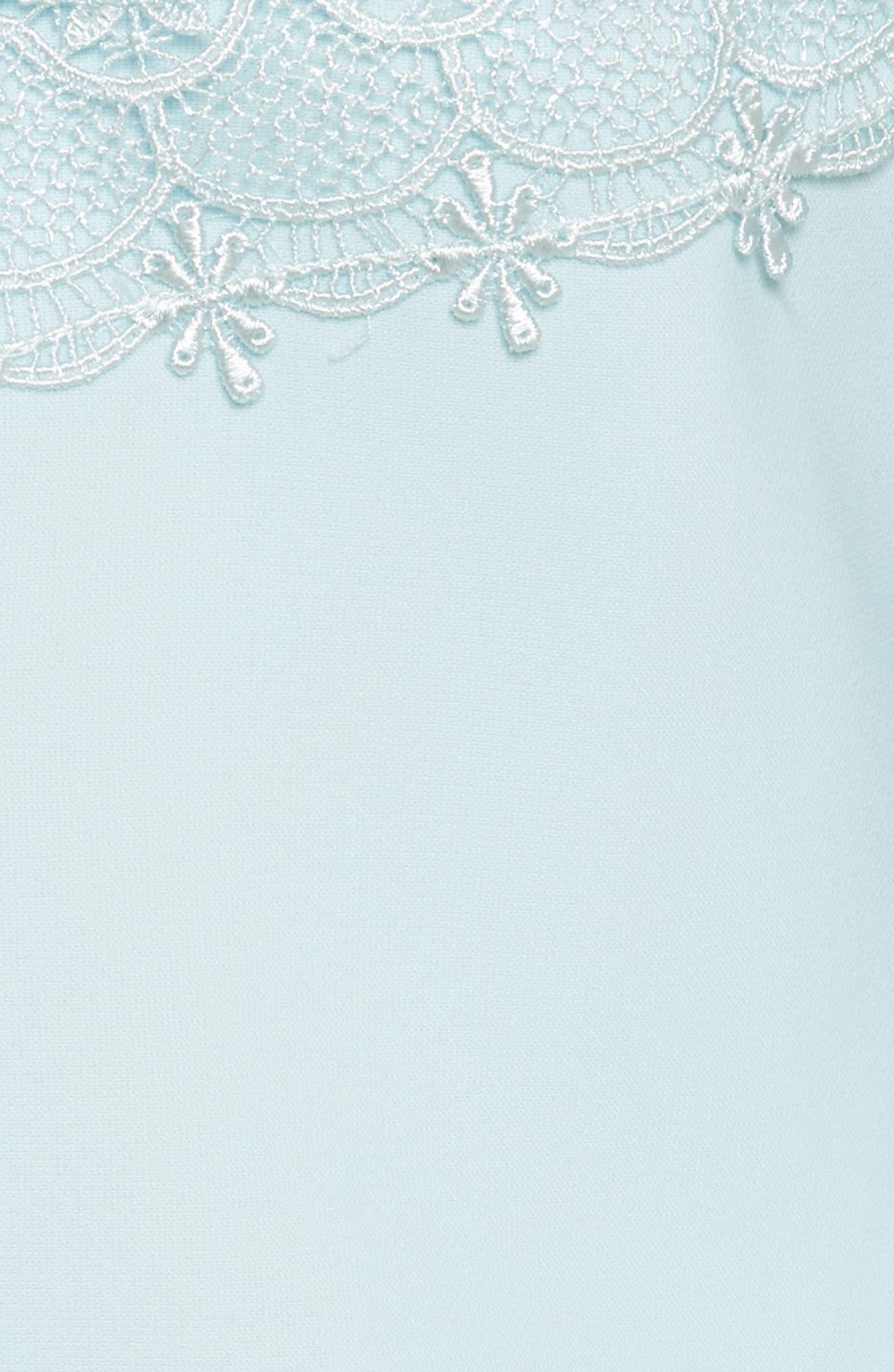Raechal Lace Sleeve A-Line Dress,                             Alternate thumbnail 5, color,                             Pale Blue