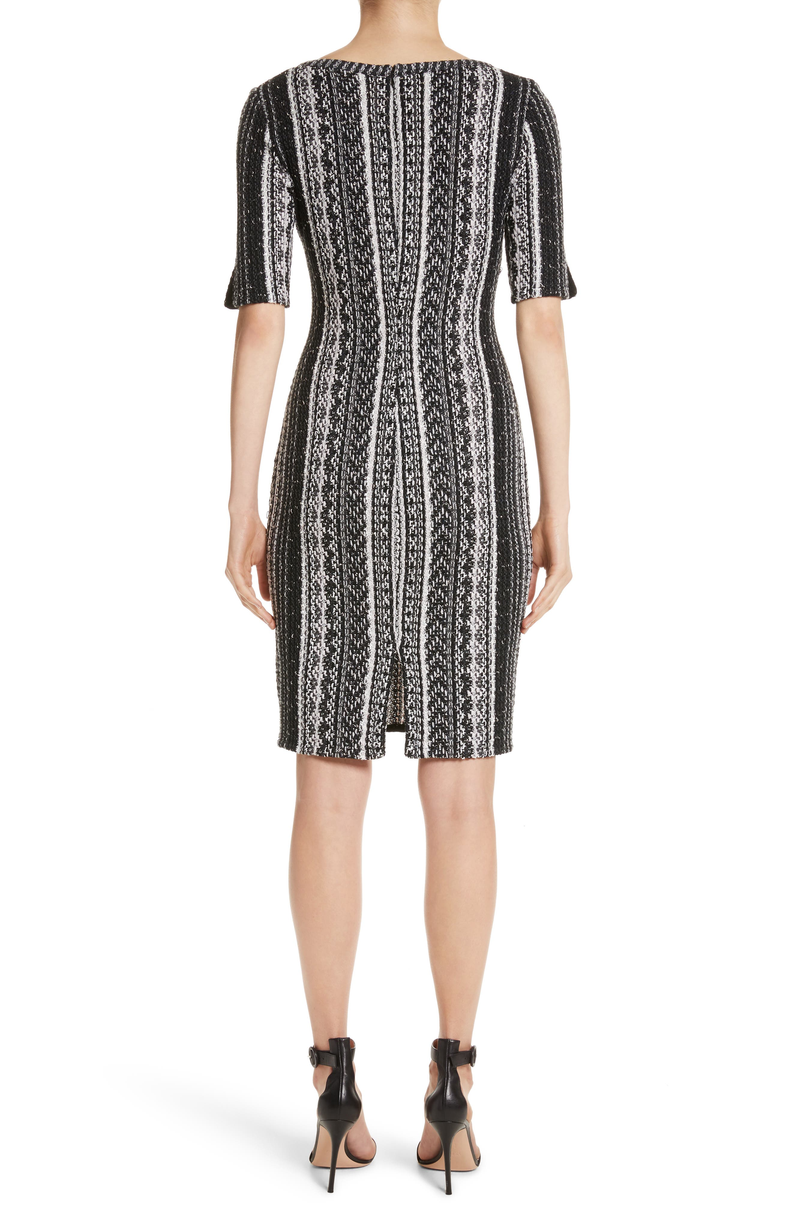 Alternate Image 2  - St. John Collection Ombré Stripe Tweed Knit Dress