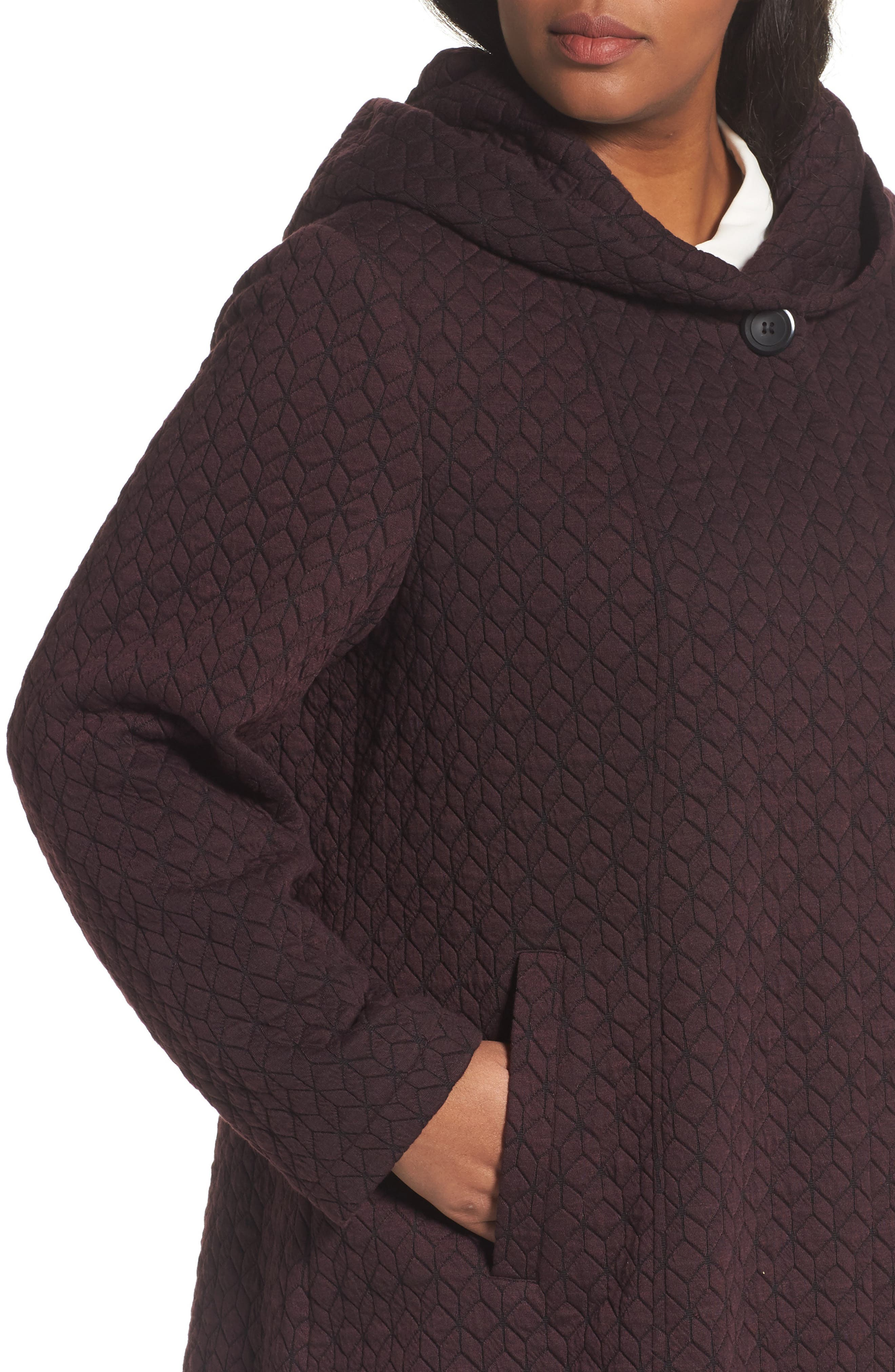 Alternate Image 4  - Gallery Cozy Knit Coat (Plus Size)