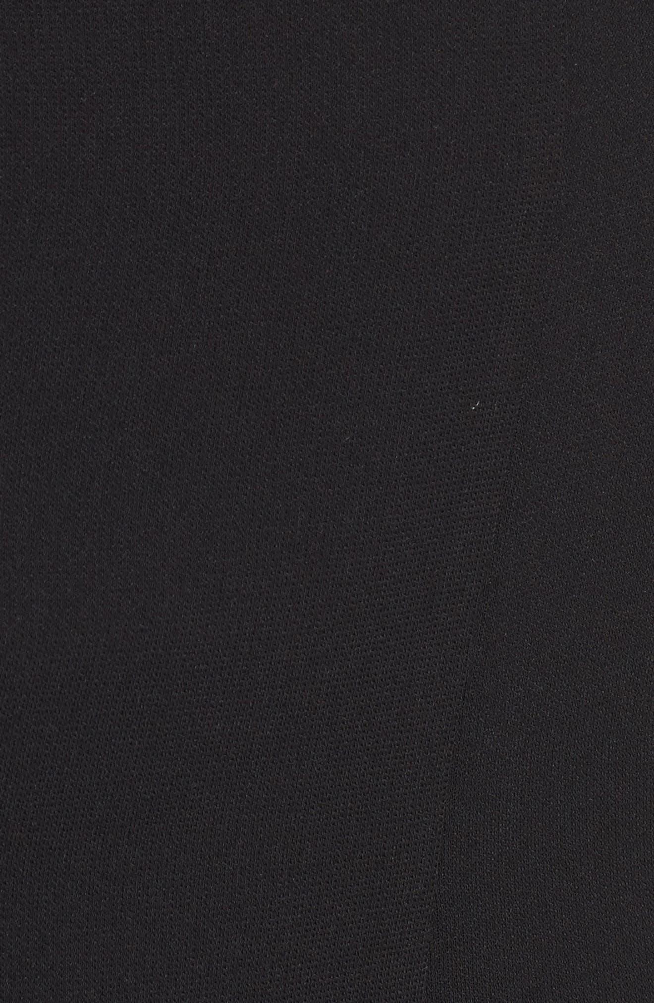 Tie Sleeve Romper,                             Alternate thumbnail 5, color,                             Black