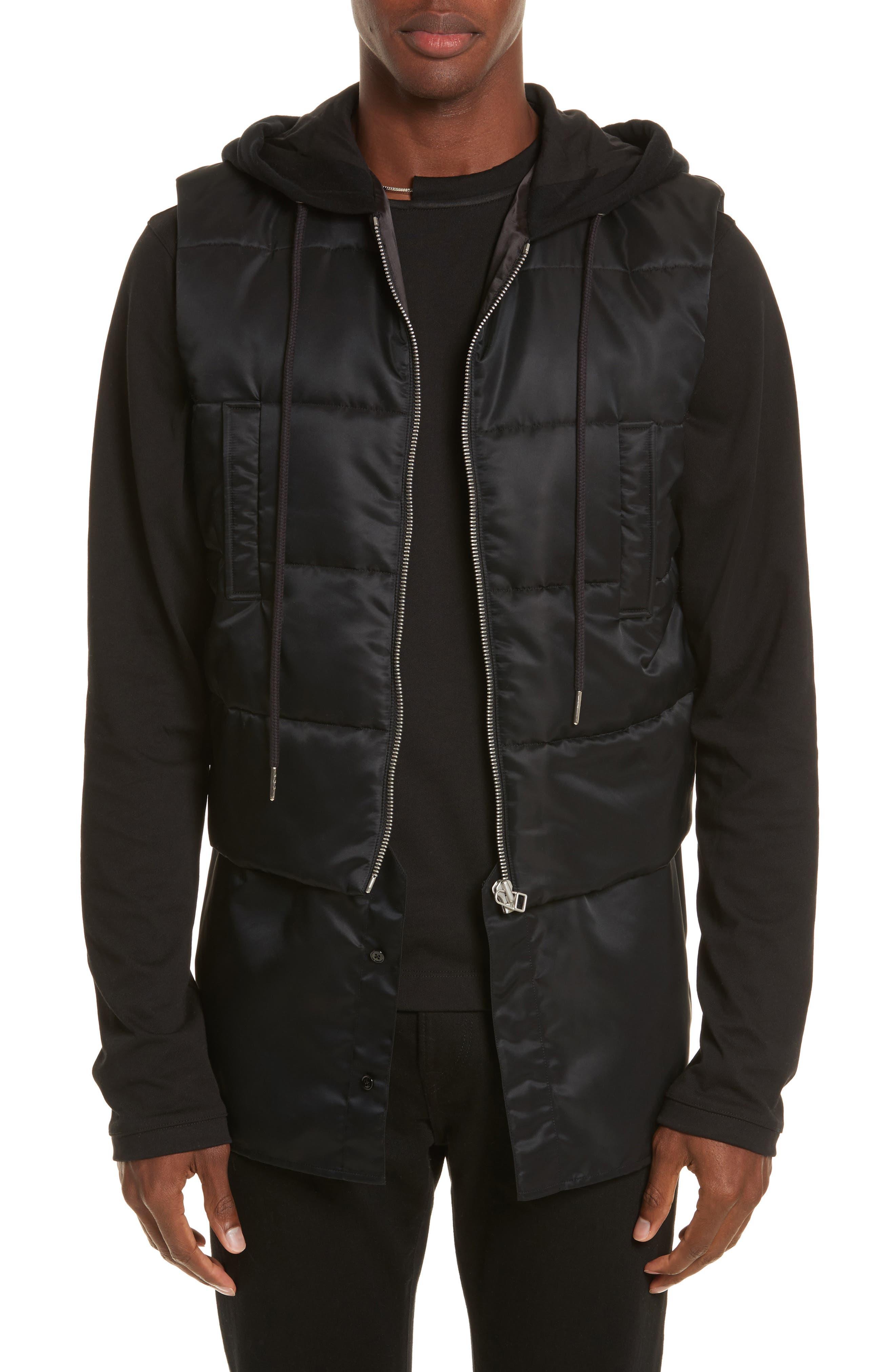 Helmut Lang Hooded Puffer Vest