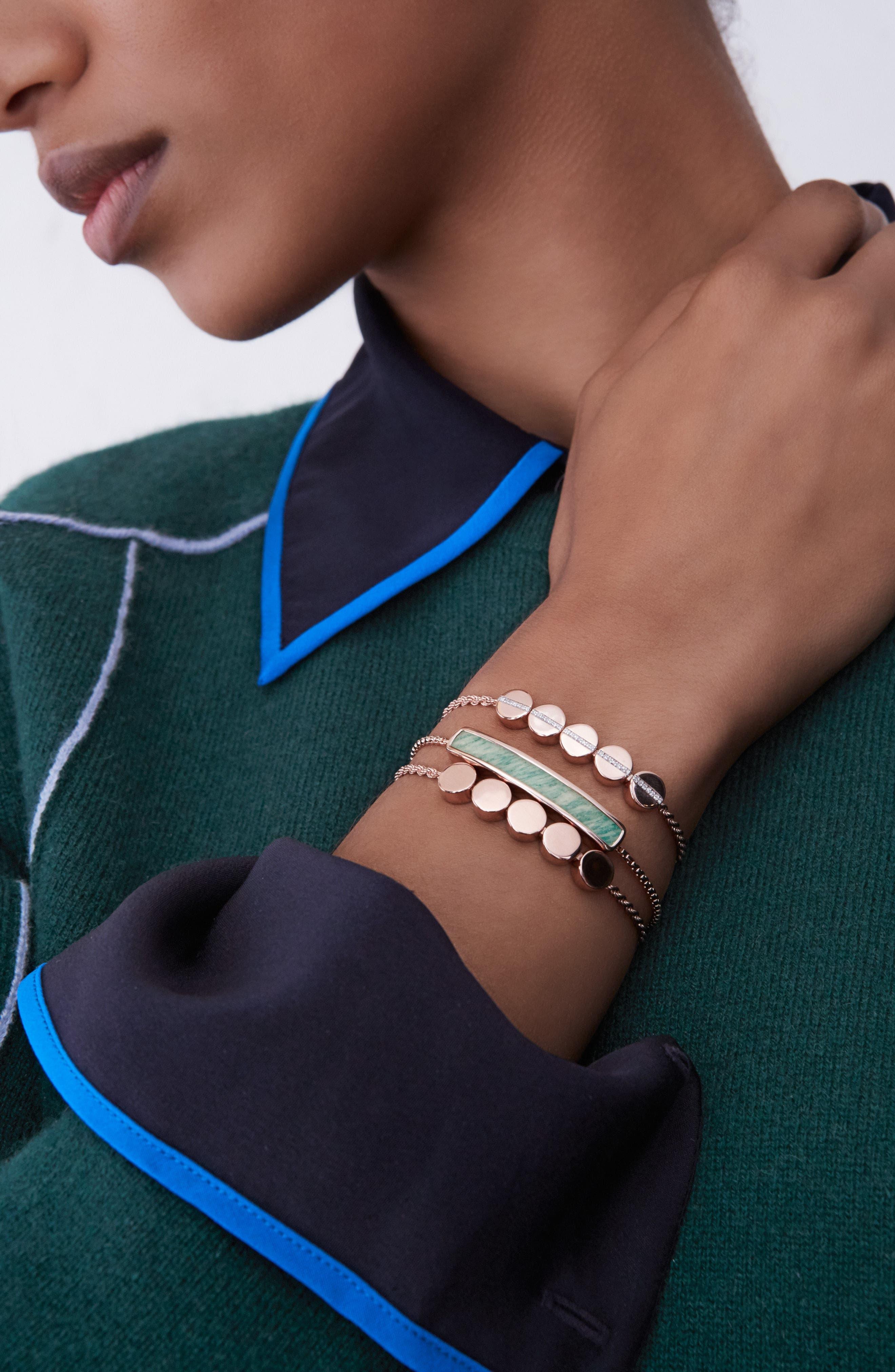 Alternate Image 3  - Monica Vinader Diamond Beaded Friendship Bracelet