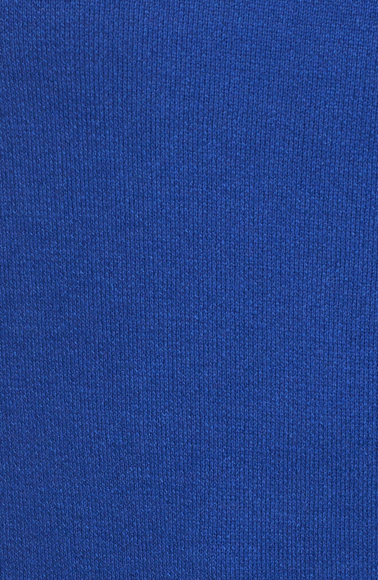 Dolman Sleeve Crewneck Sweater,                             Alternate thumbnail 5, color,                             Blue Mazarine