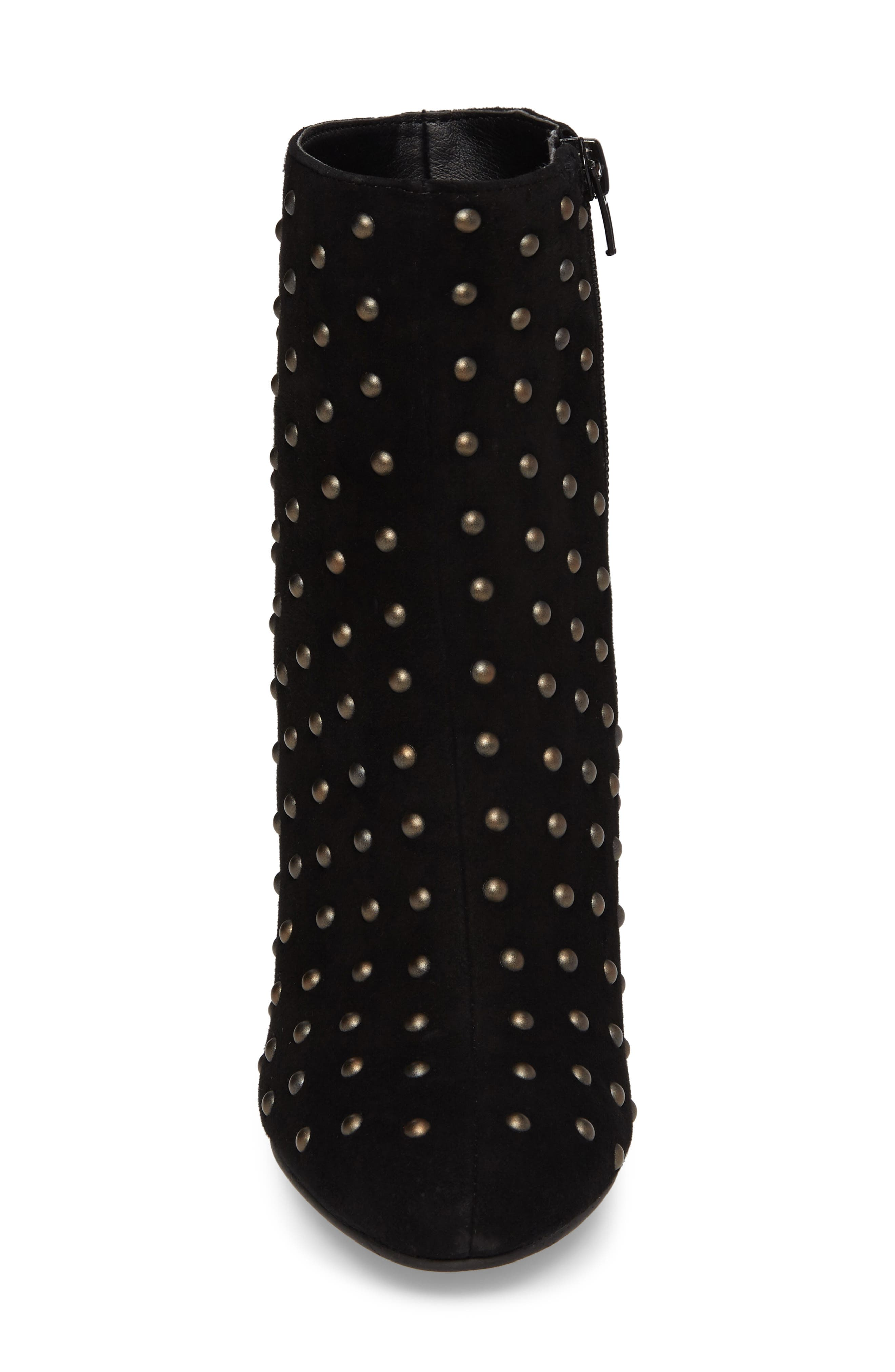 Wesson II Studded Bootie,                             Alternate thumbnail 4, color,                             Black Suede