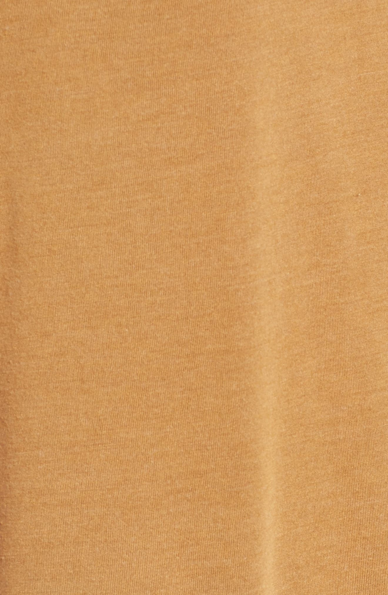 Raw Edge V-Neck Tee,                             Alternate thumbnail 7, color,                             Brown Cattail