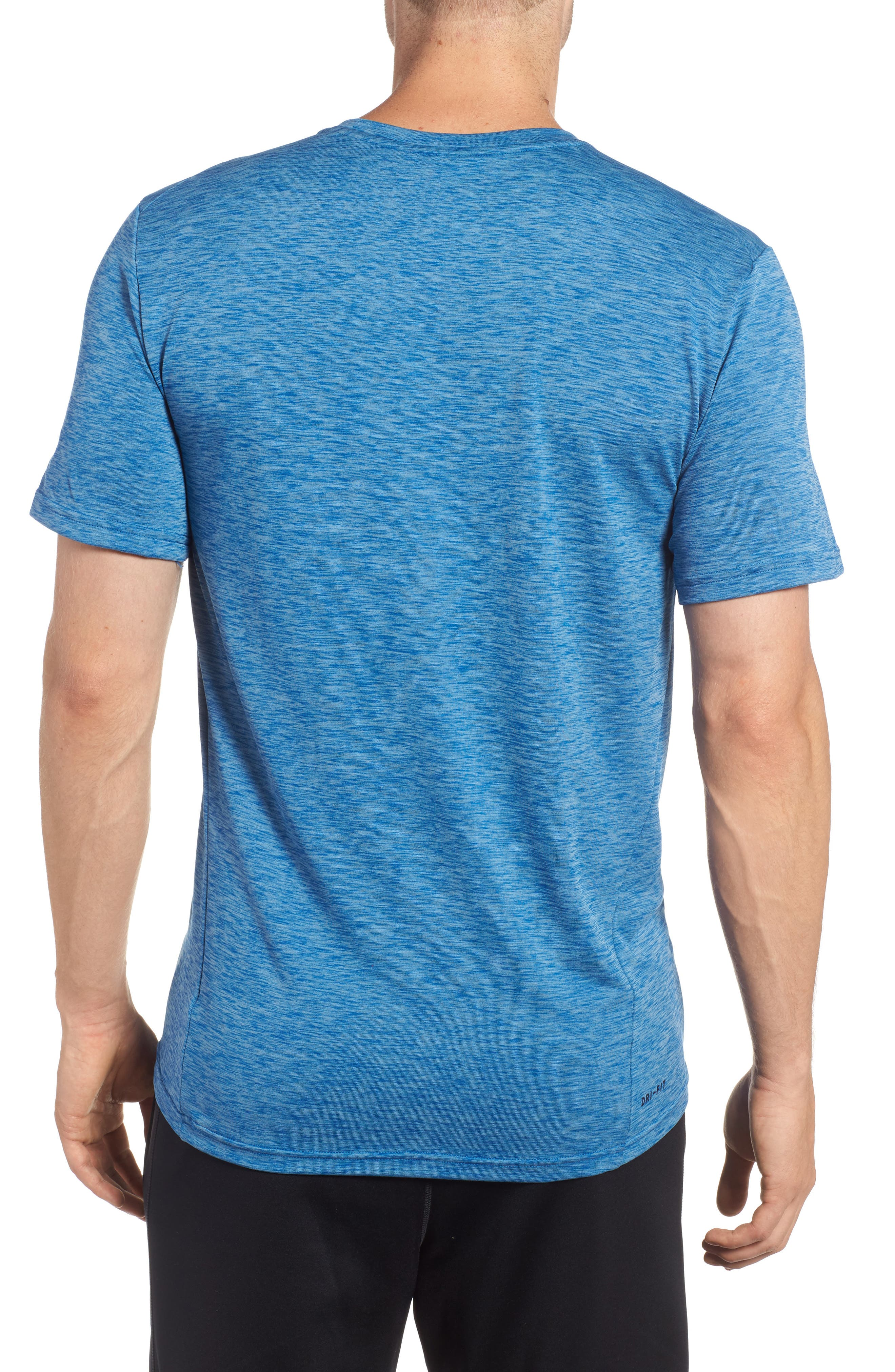 Hyper Dry Training Tee,                             Alternate thumbnail 2, color,                             Cerulean/ Blue Jay/ Black