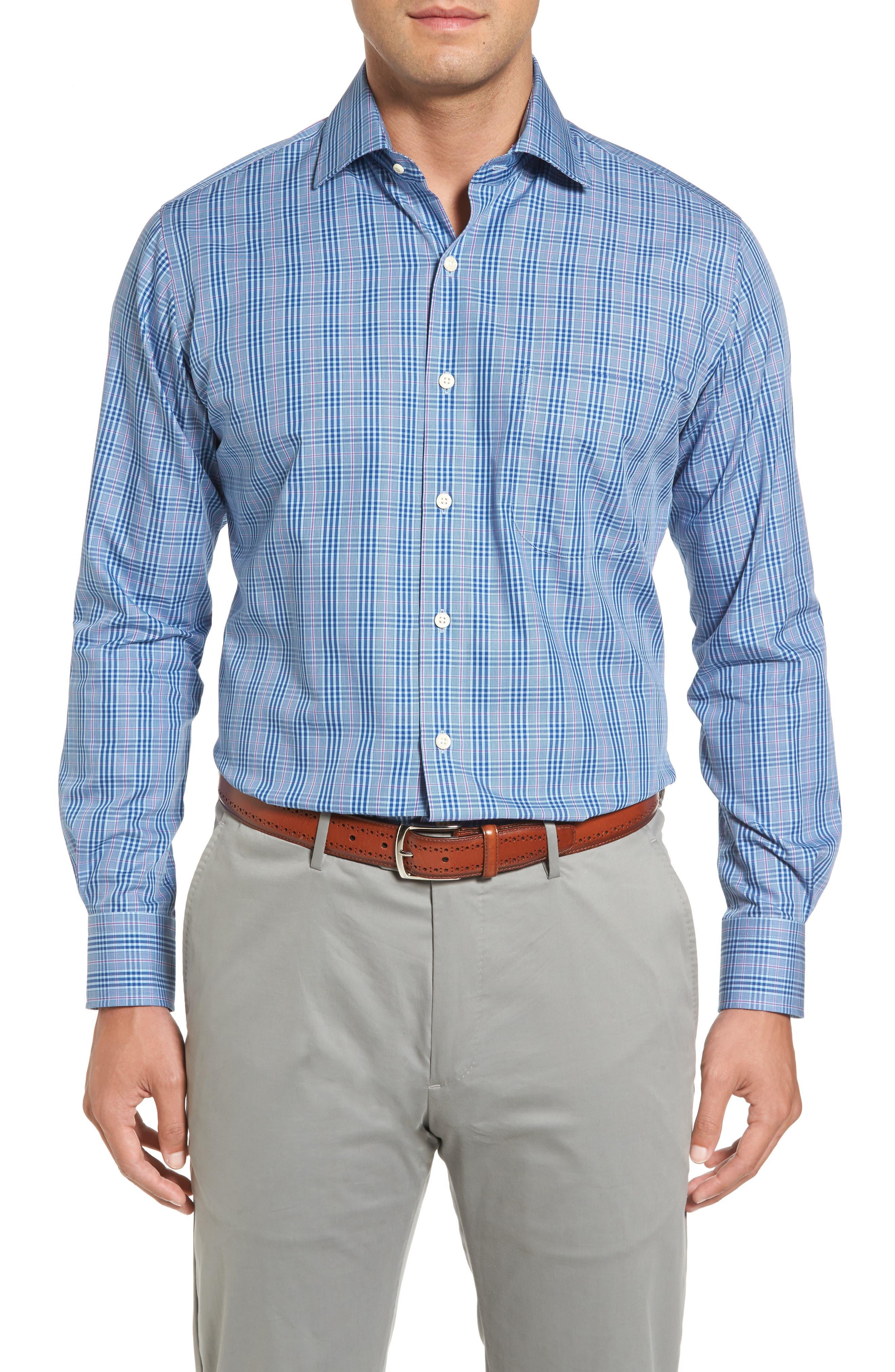 Peter Millar Blackstar Regular Fit Glen Plaid Sport Shirt