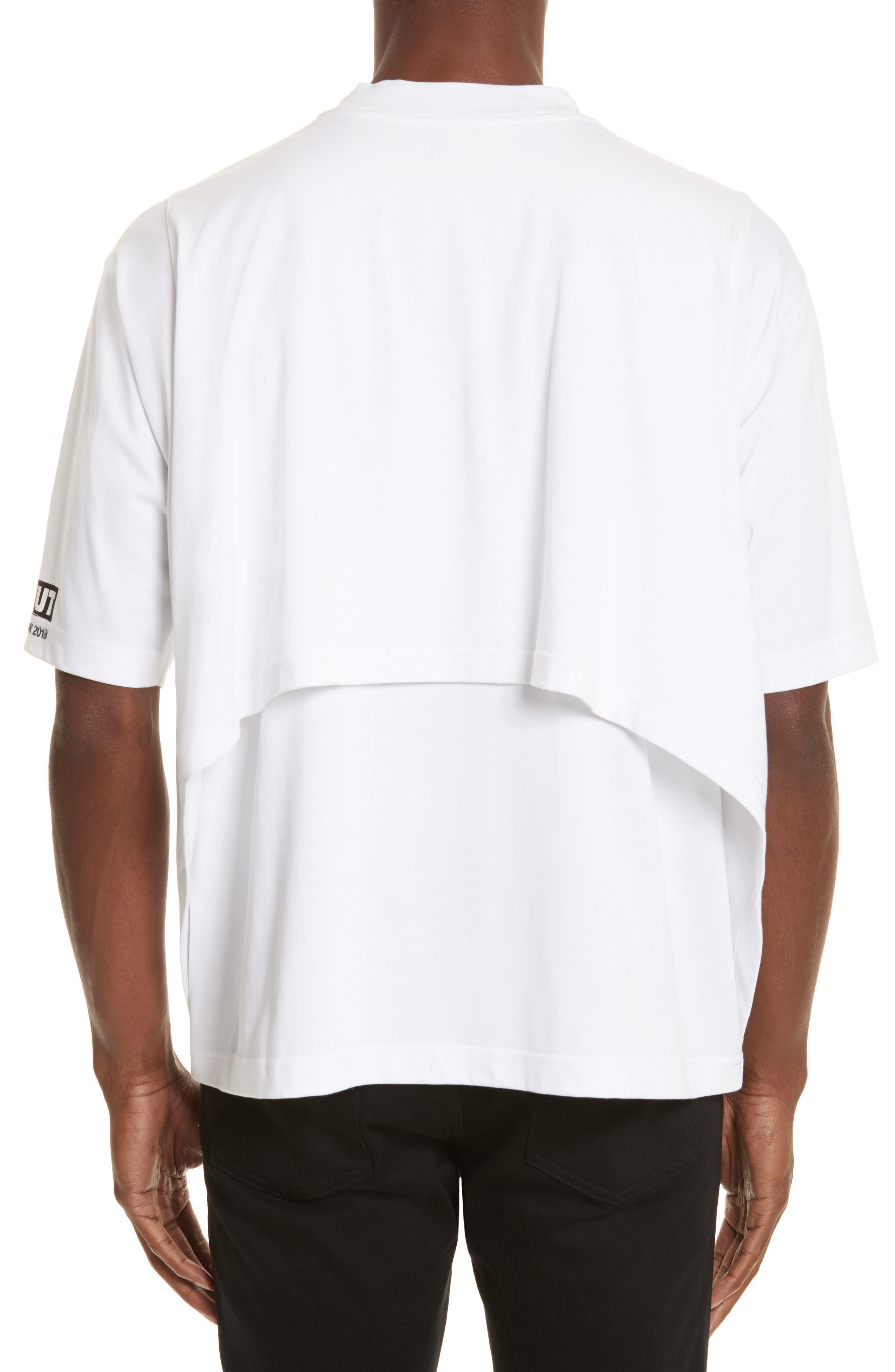 Techno Jungle Graphic T-Shirt,                             Alternate thumbnail 2, color,                             White
