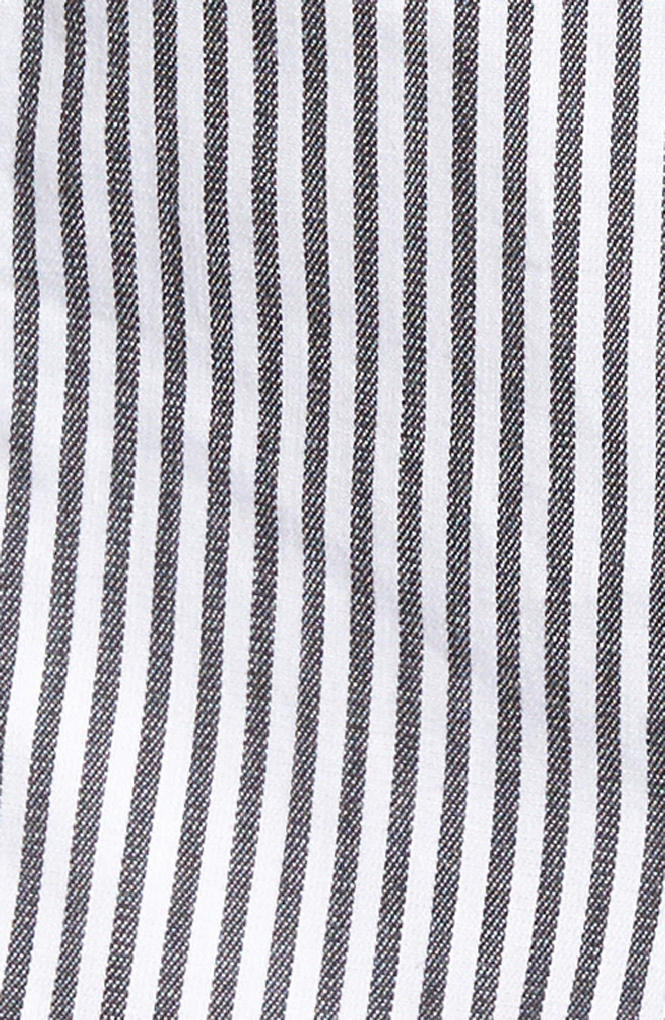 Alternate Image 5  - Socialite Stripe Portrait Neck Top