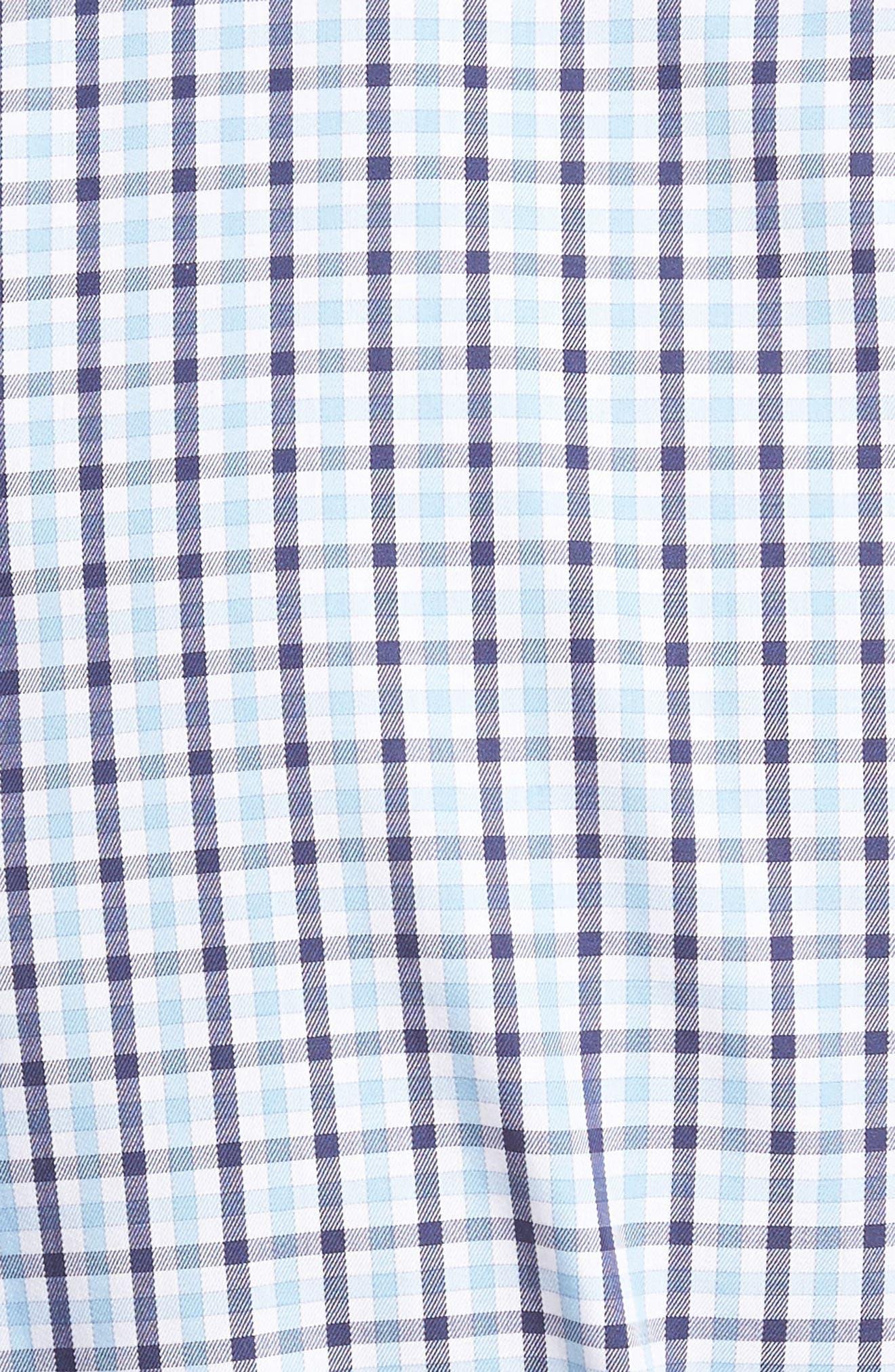 Adams Check Sport Shirt,                             Alternate thumbnail 5, color,                             Star Fall