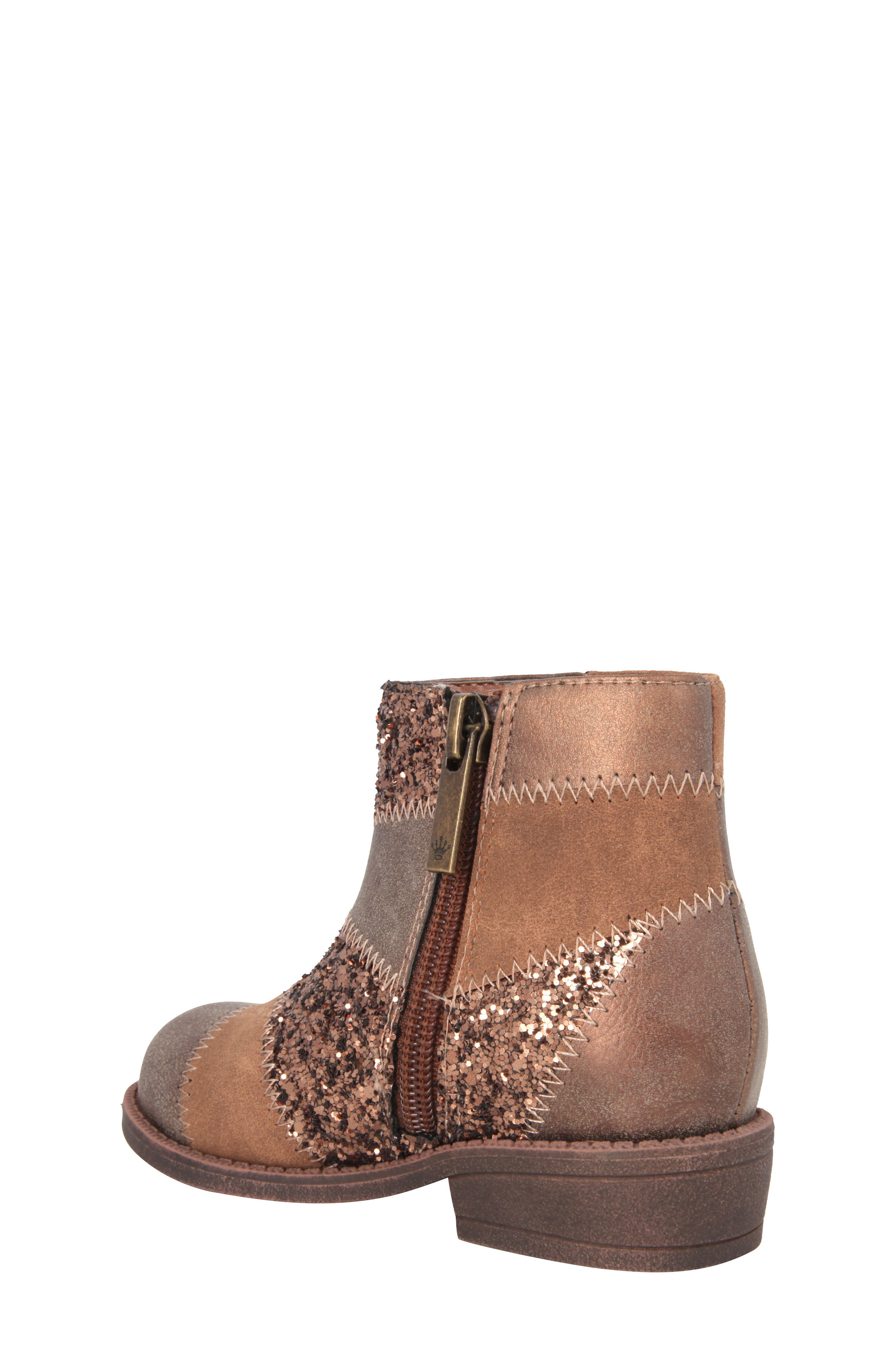 Alternate Image 2  - Nina Ines Glittery Patchwork Bootie (Walker, Toddler, Little Kid & Big Kid)