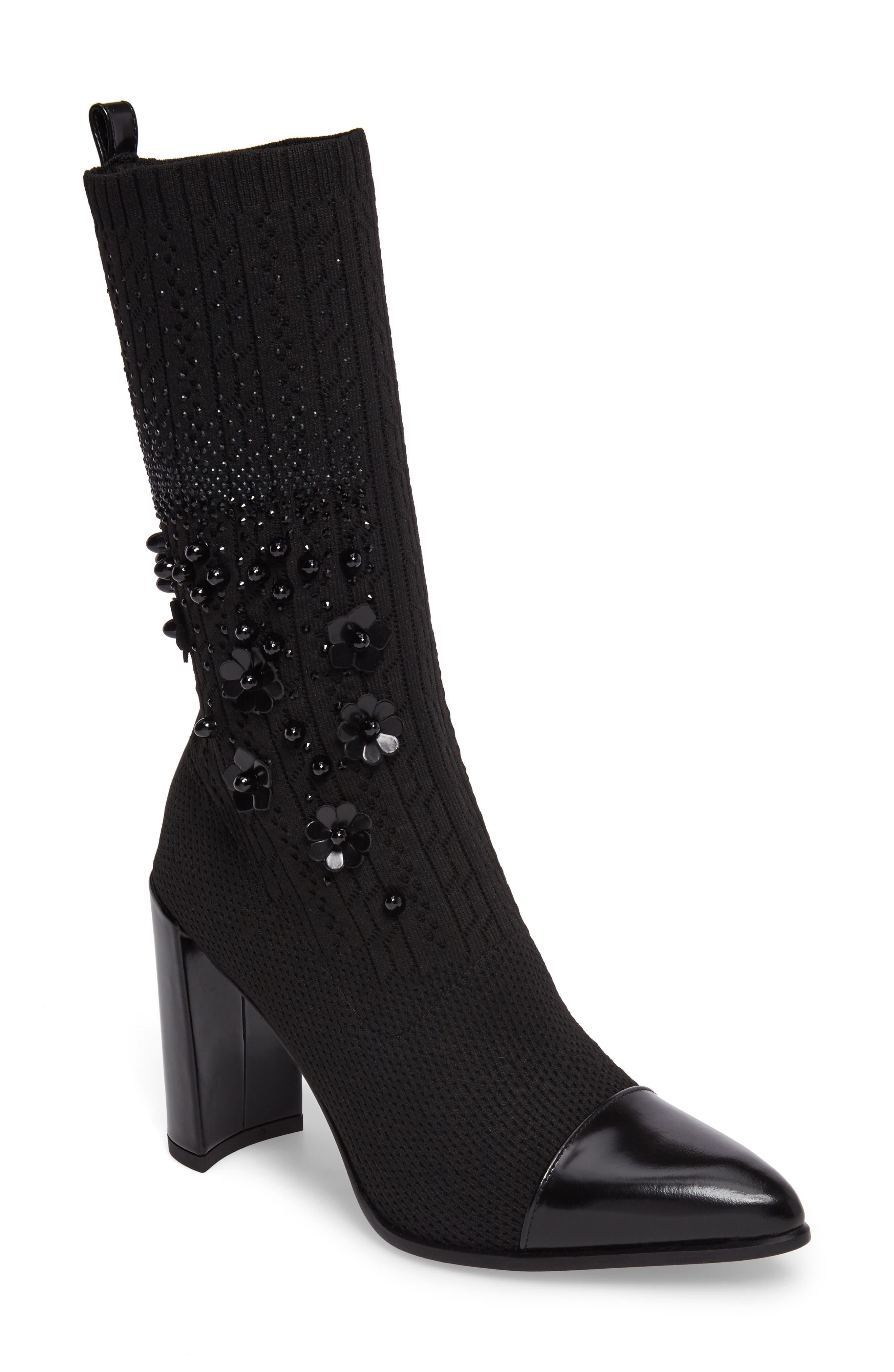 Main Image - Stuart Weitzman Sockhop Embellished Boot (Women)