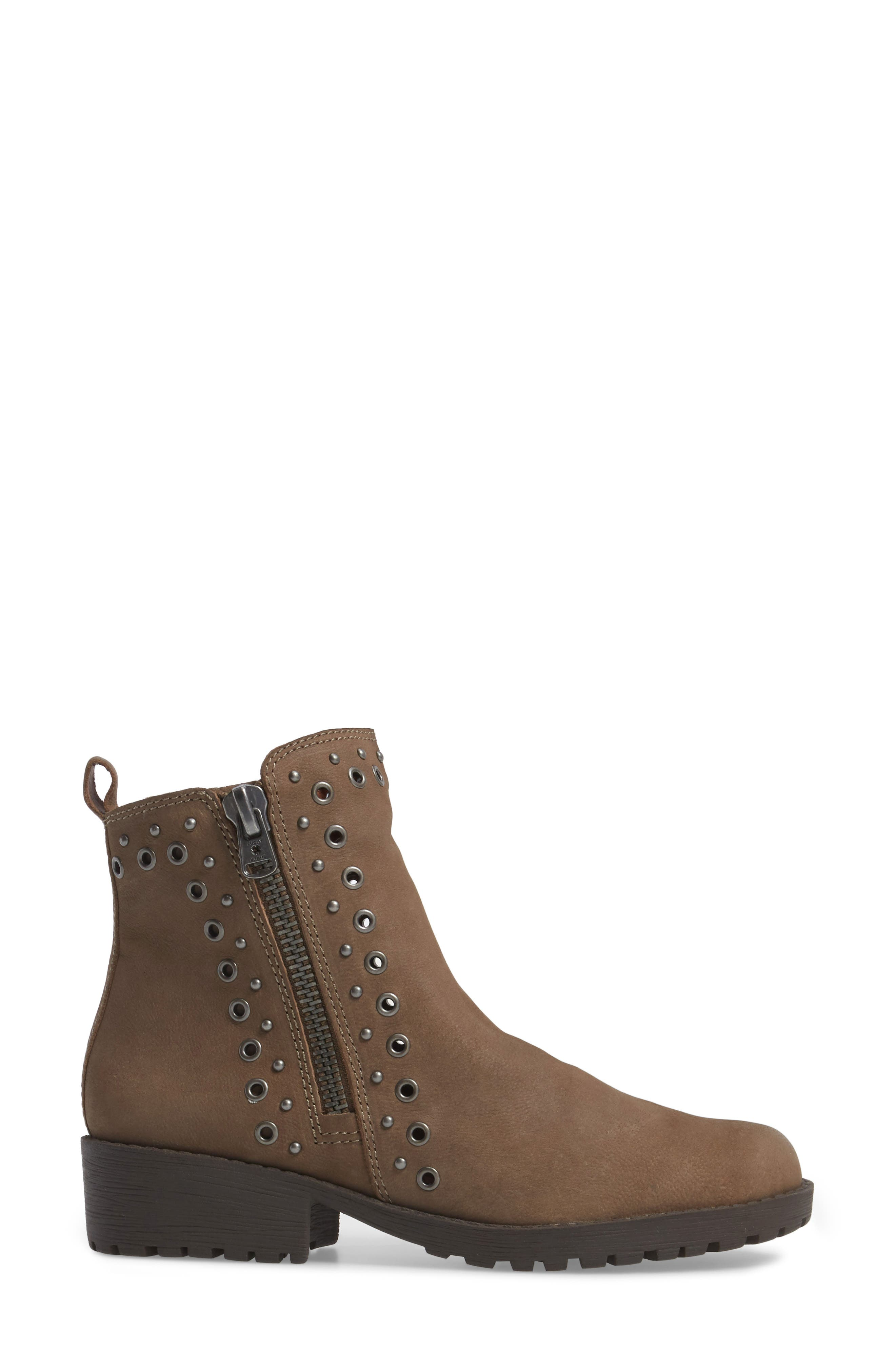 Hannie Embellished Bootie,                             Alternate thumbnail 3, color,                             Brindle Leather