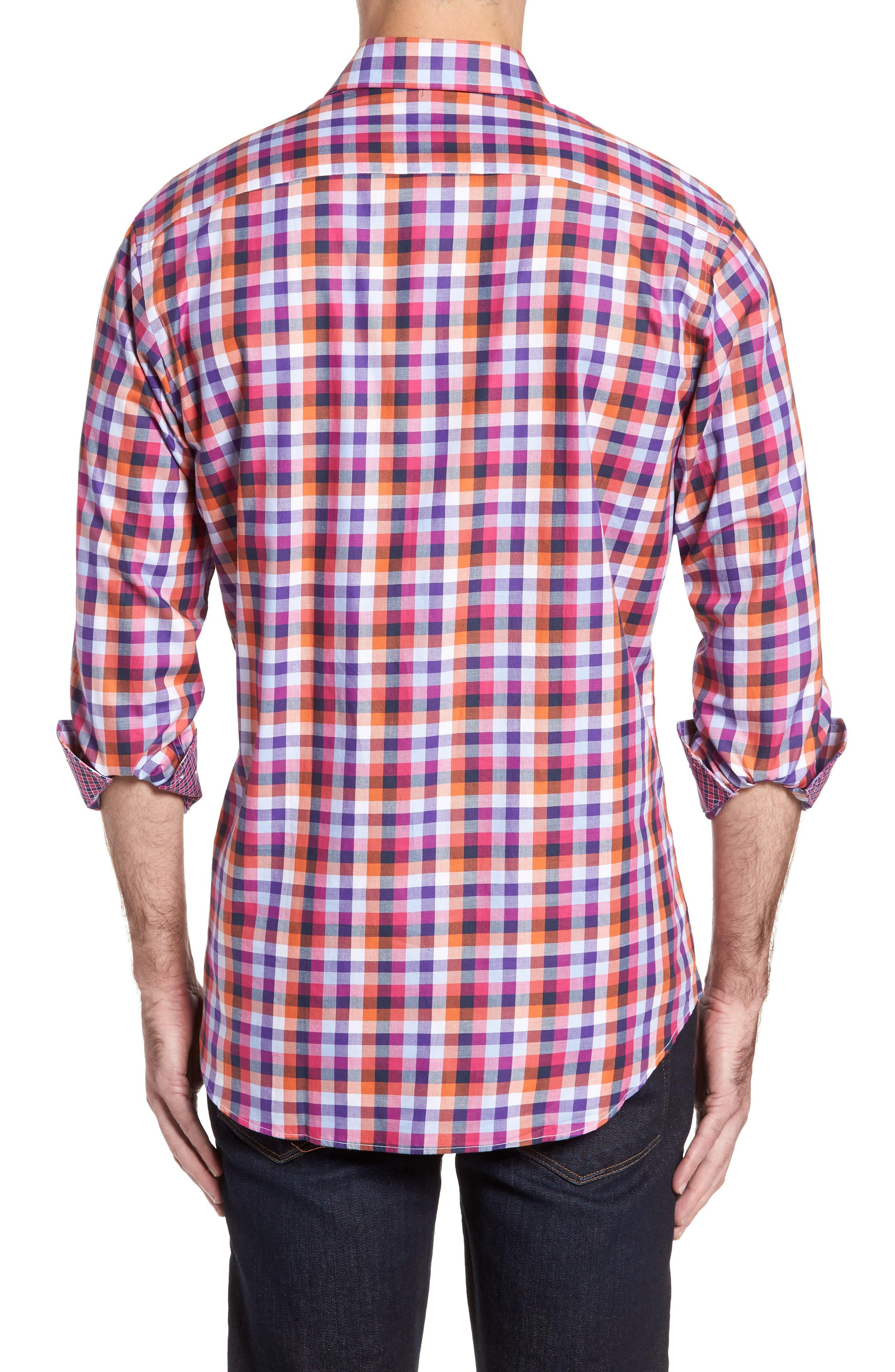 Alternate Image 2  - TailorByrd Baker Check Sport Shirt